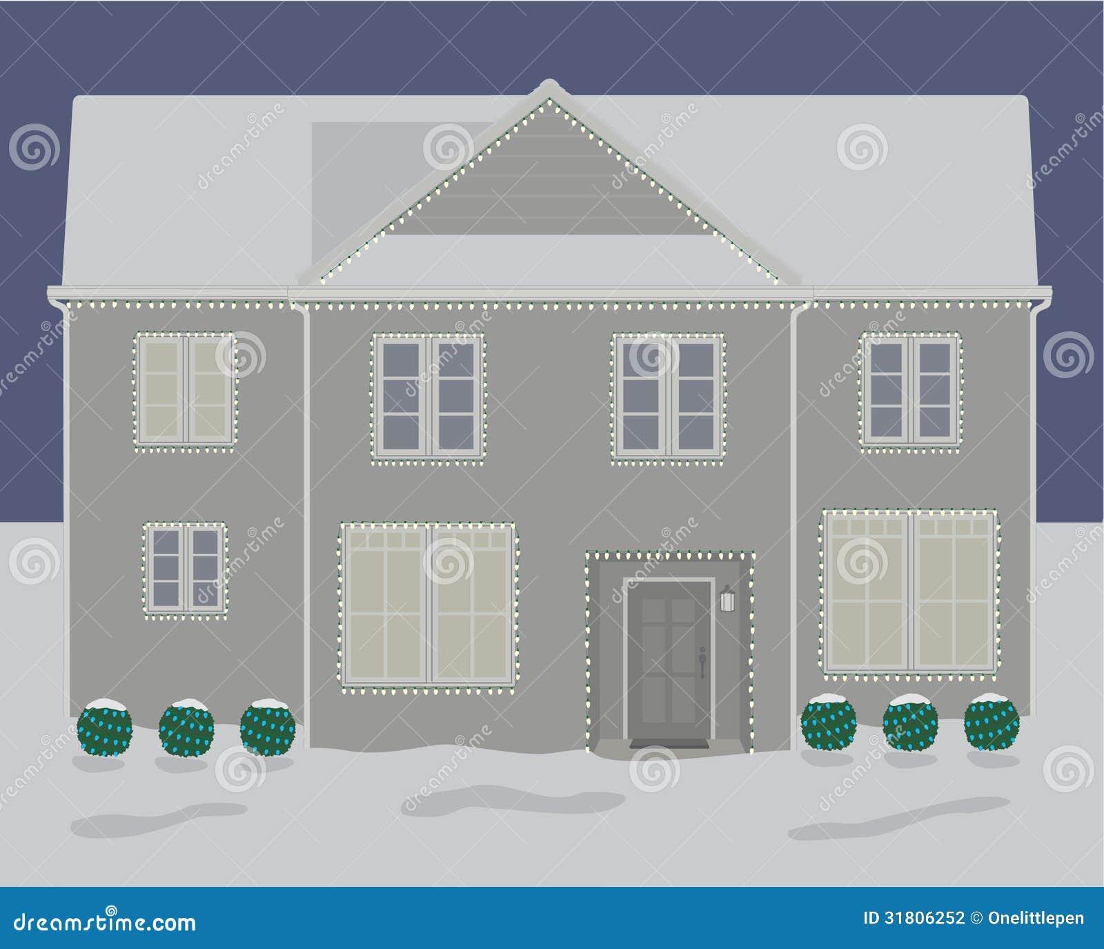 Luci Di Natale In Camera.Luci Di Natale Di Inverno Della Camera Illustrazione