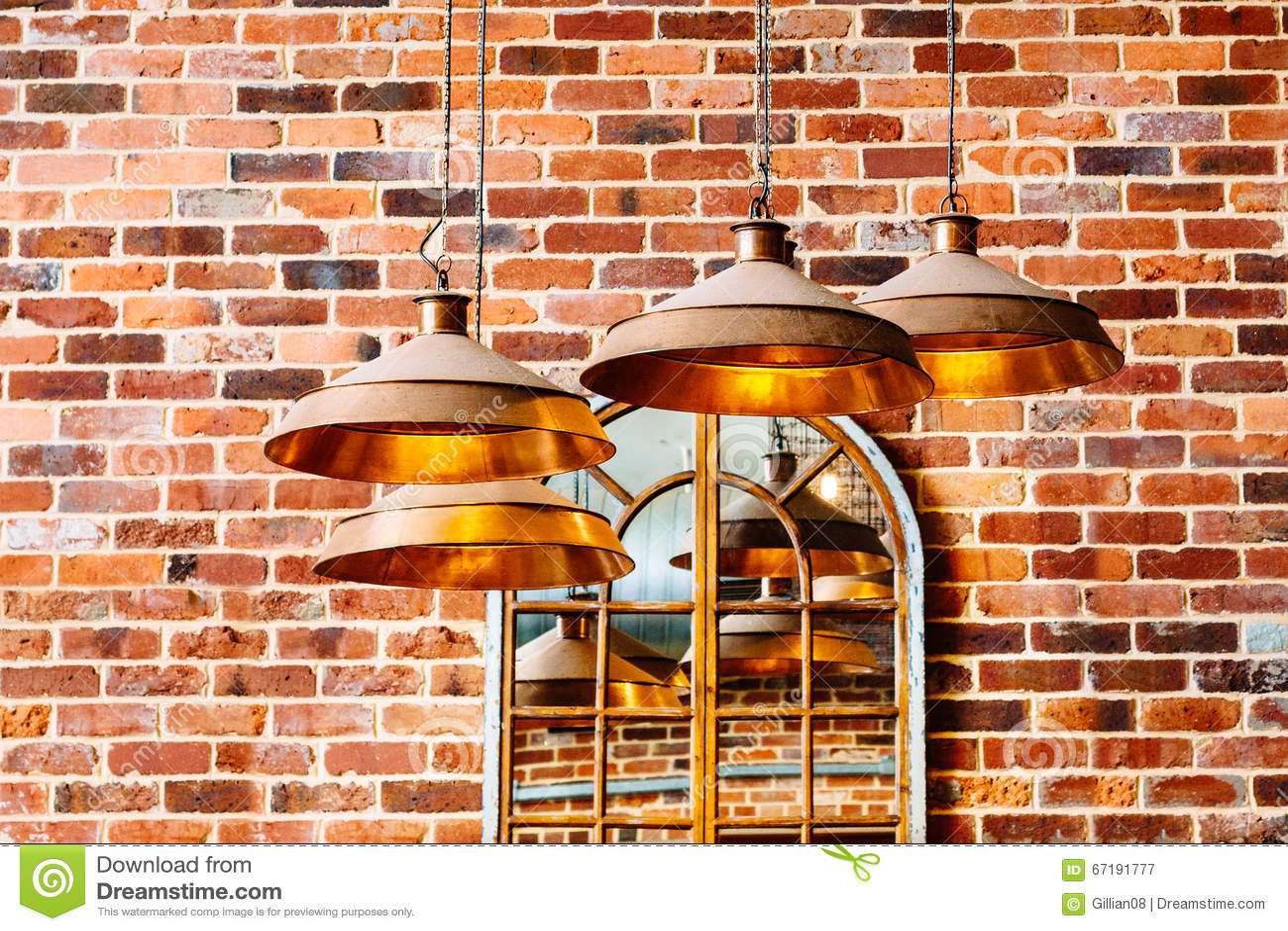 Luci di rame moderne immagine stock. immagine di illuminazione