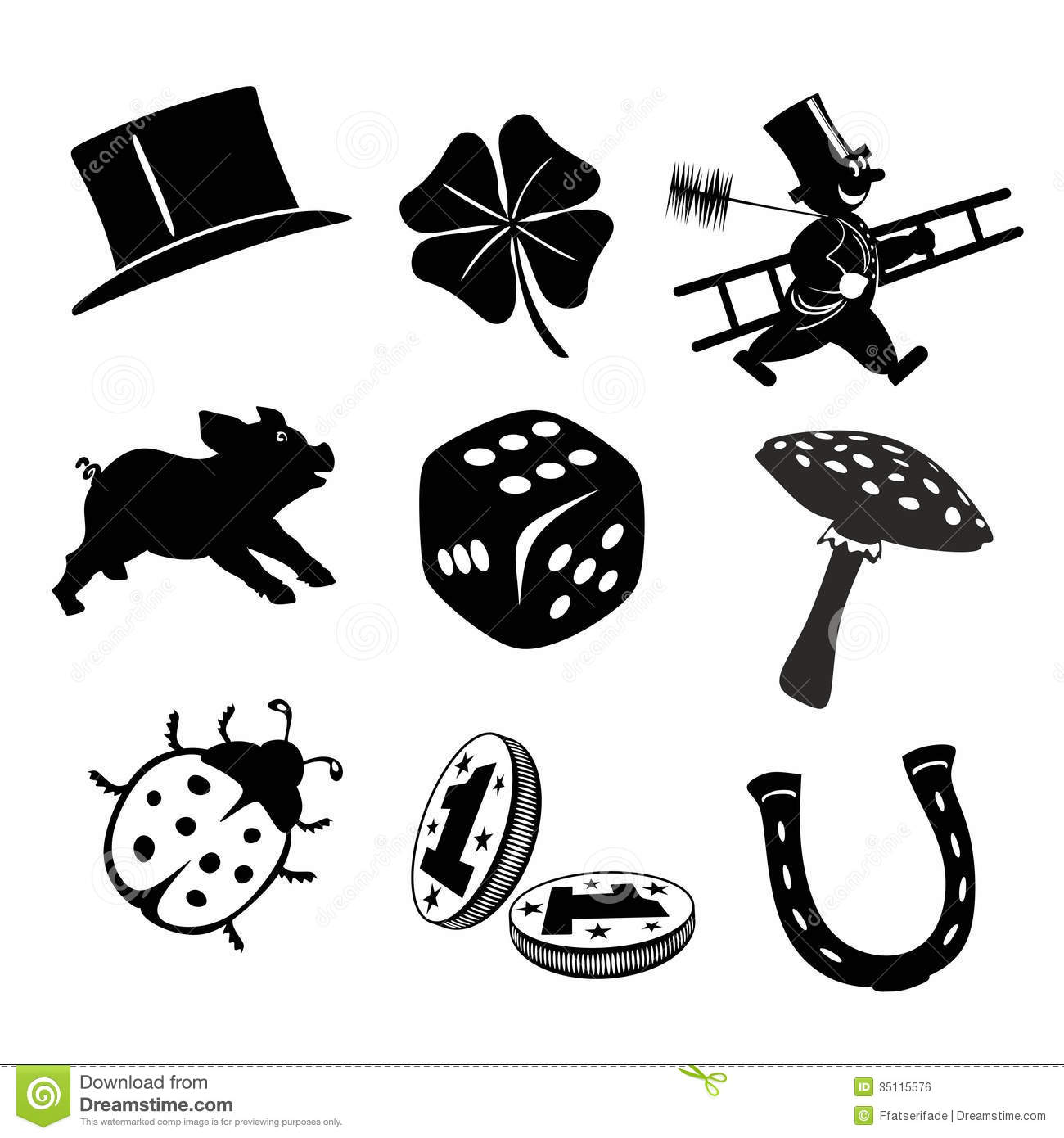 Luck Charms Stock Illustration Illustration Of Iron 35115576