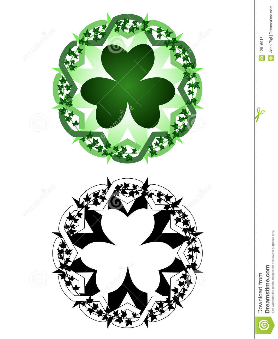 Luck tattoo stock vector image of tattoo illustration for Luck of the irish tattoos