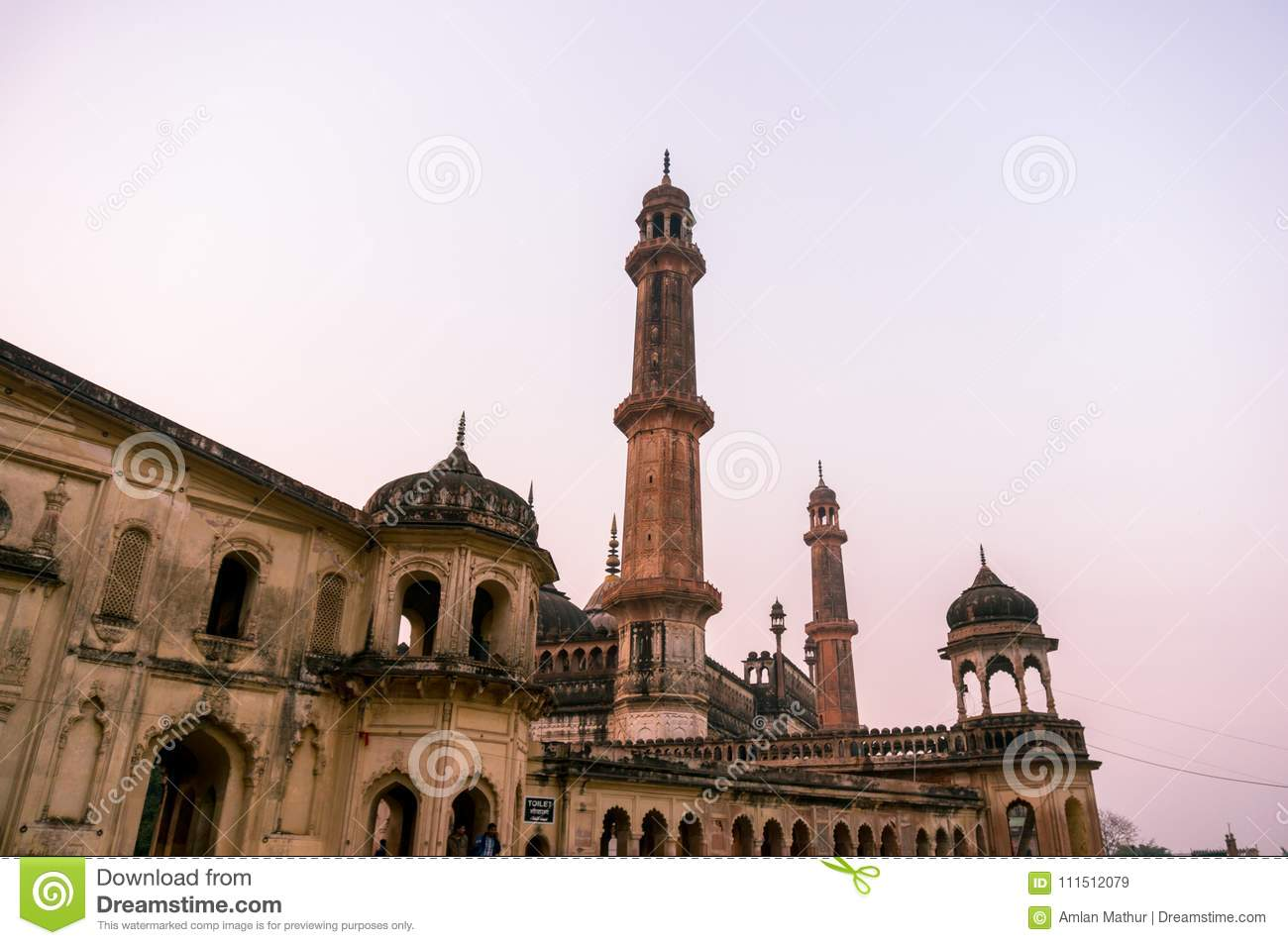 Closeup of the entrance gate of the asfi mosque in lucknow