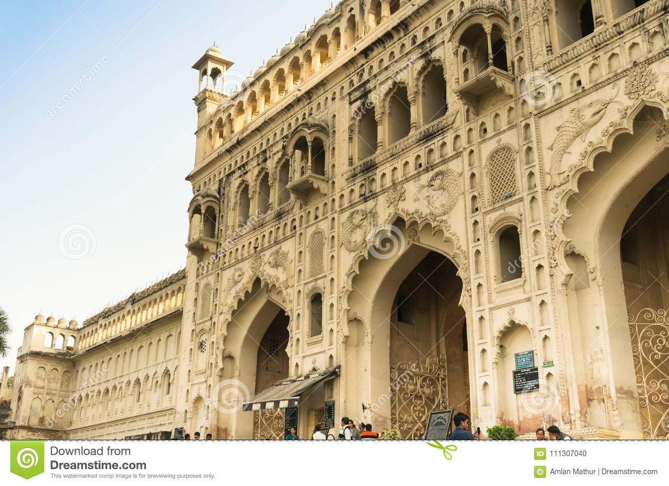 Entrance gate to the Bara Imambara lucknow India