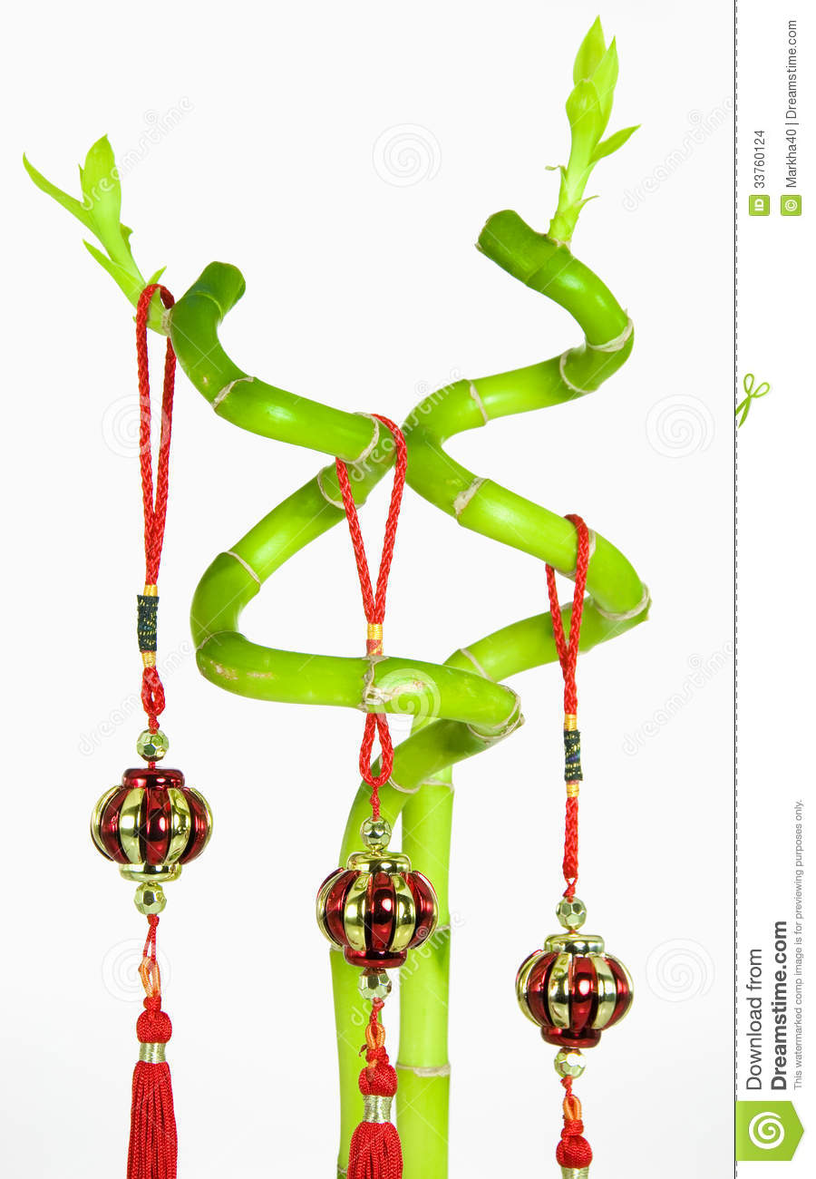 Lucky Bamboo And Chinese New Year Hanging Decoration ...