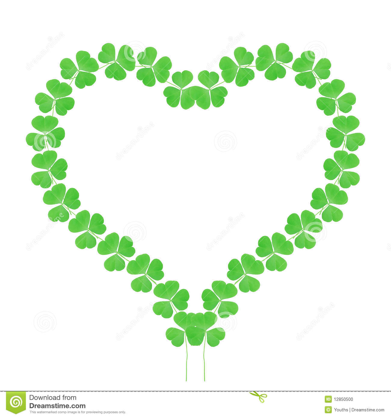 Lucky Clover Heart Stock Photo - Image: 12850500
