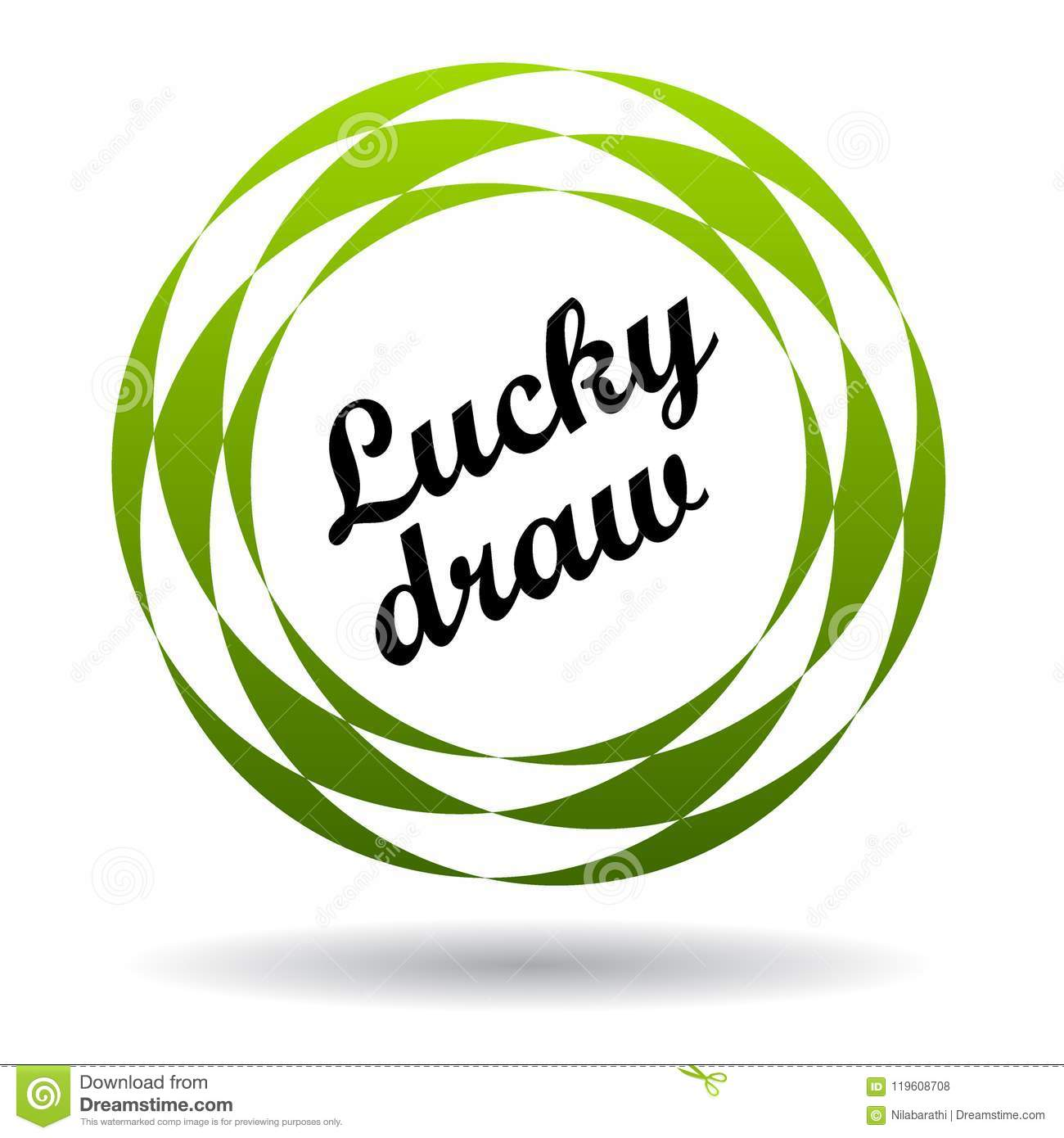 Lucky Draw Colorful Icon Stock Illustration Illustration Of
