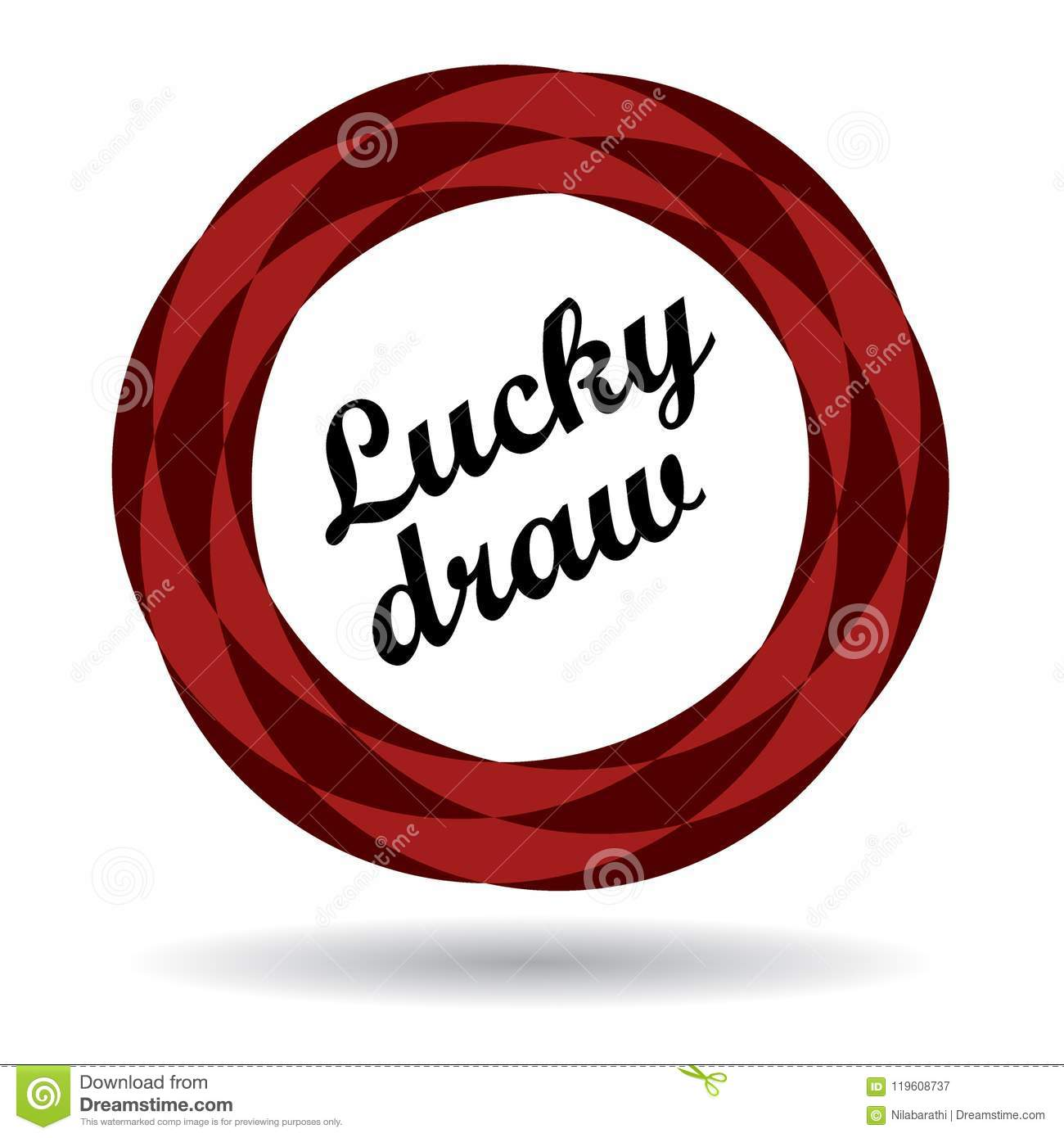 Lucky Draw Colorful Icon Stock Illustration Illustration Of Buttons