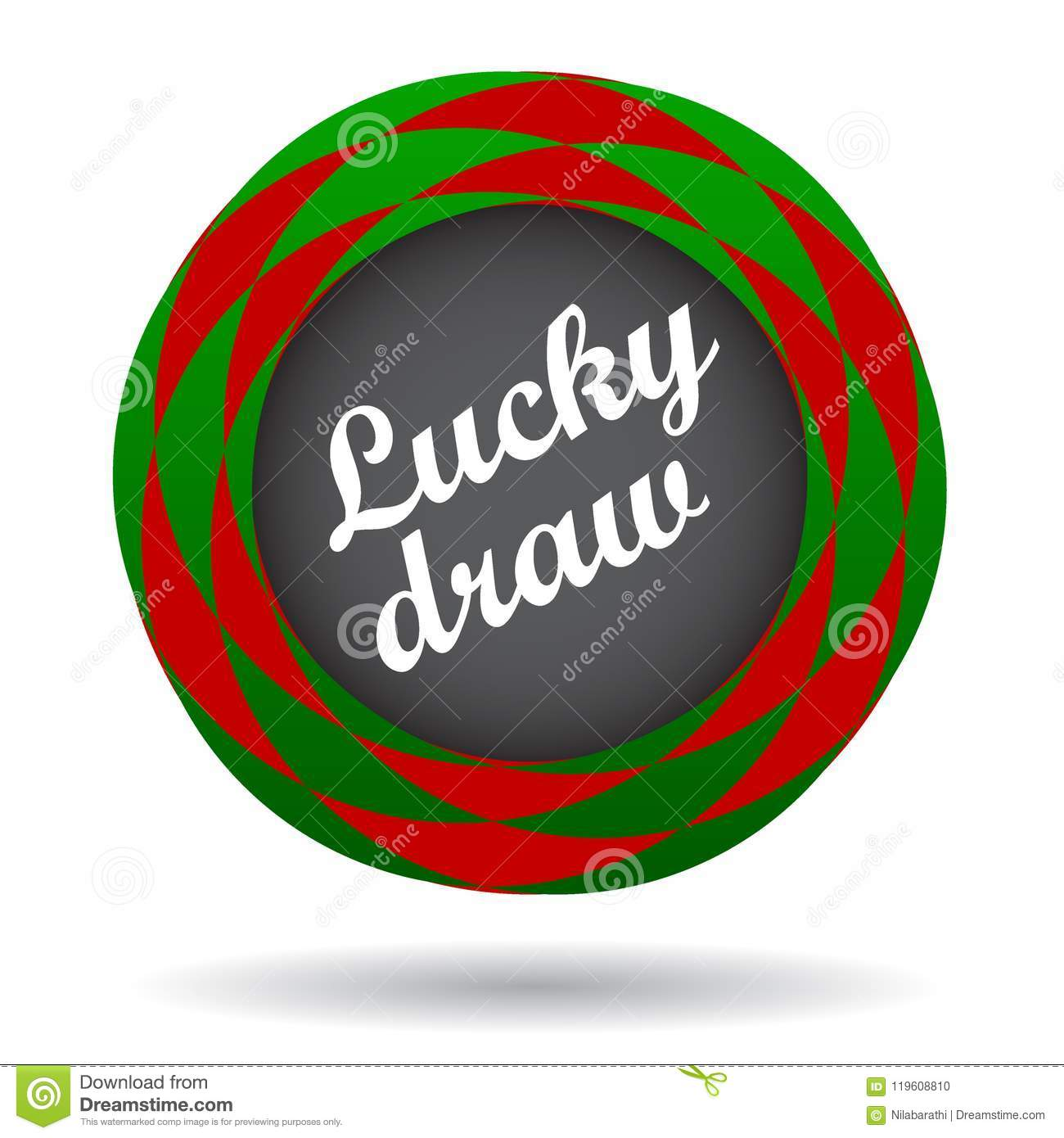 Lucky Draw Colorful Icon Stock Illustration Illustration Of Icon