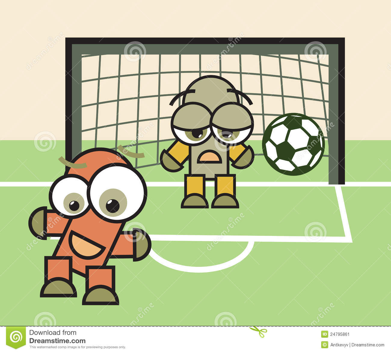 Cartoon Soccer Ball Sad Vector Illustration ...