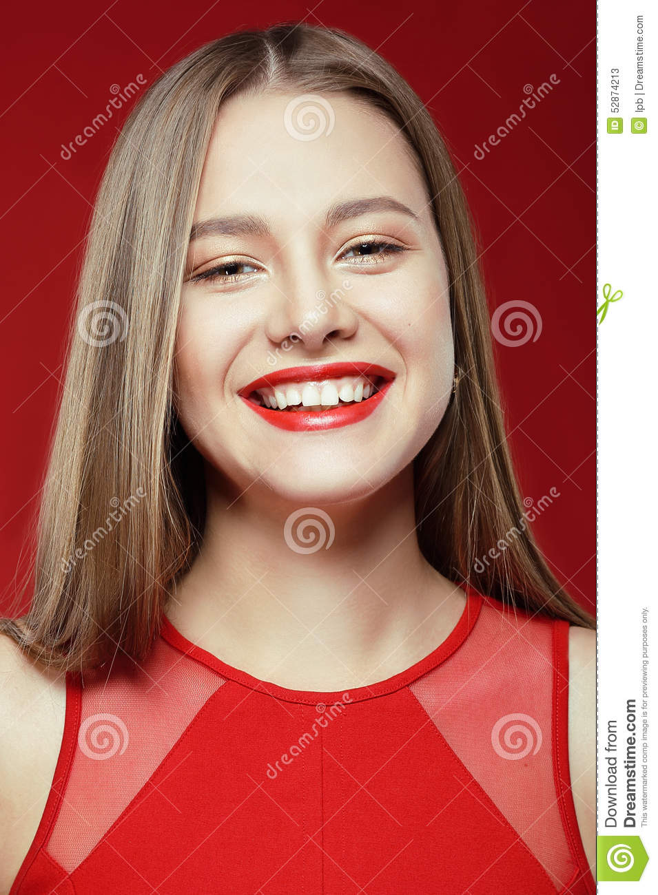 Download Lucky Happy Woman With Toothy Smile Stock Image - Image of glad, lifestyle: 52874213