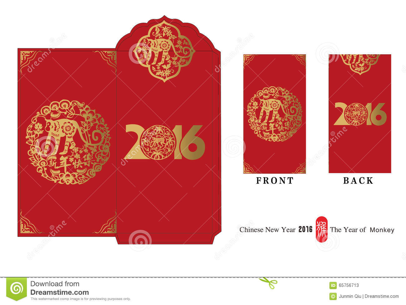 Lucky Money,The Chinese New Year Stock Vector ...