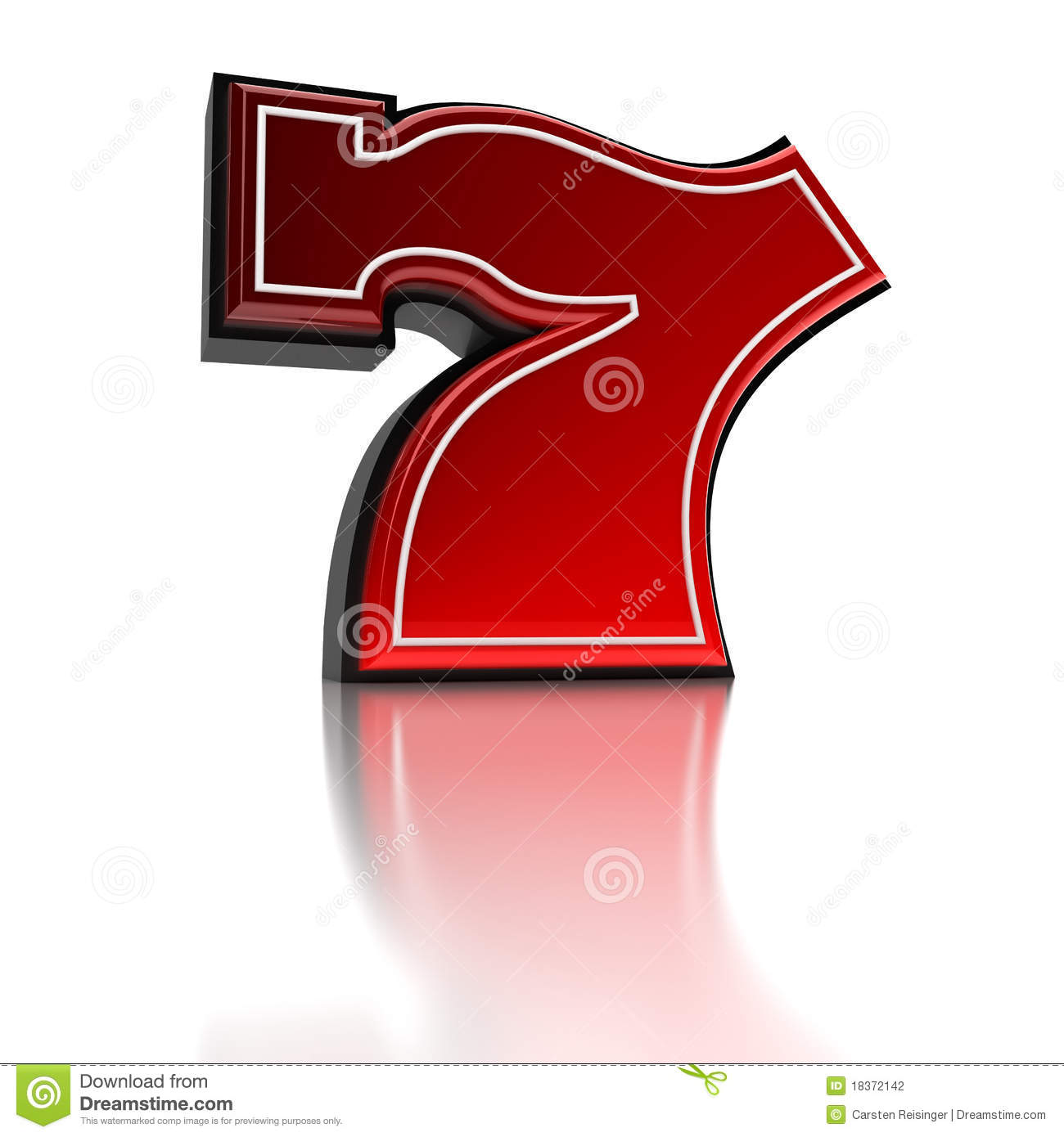 Lucky number seven stock photography image 18372142 - Lucky number 7 wallpaper ...