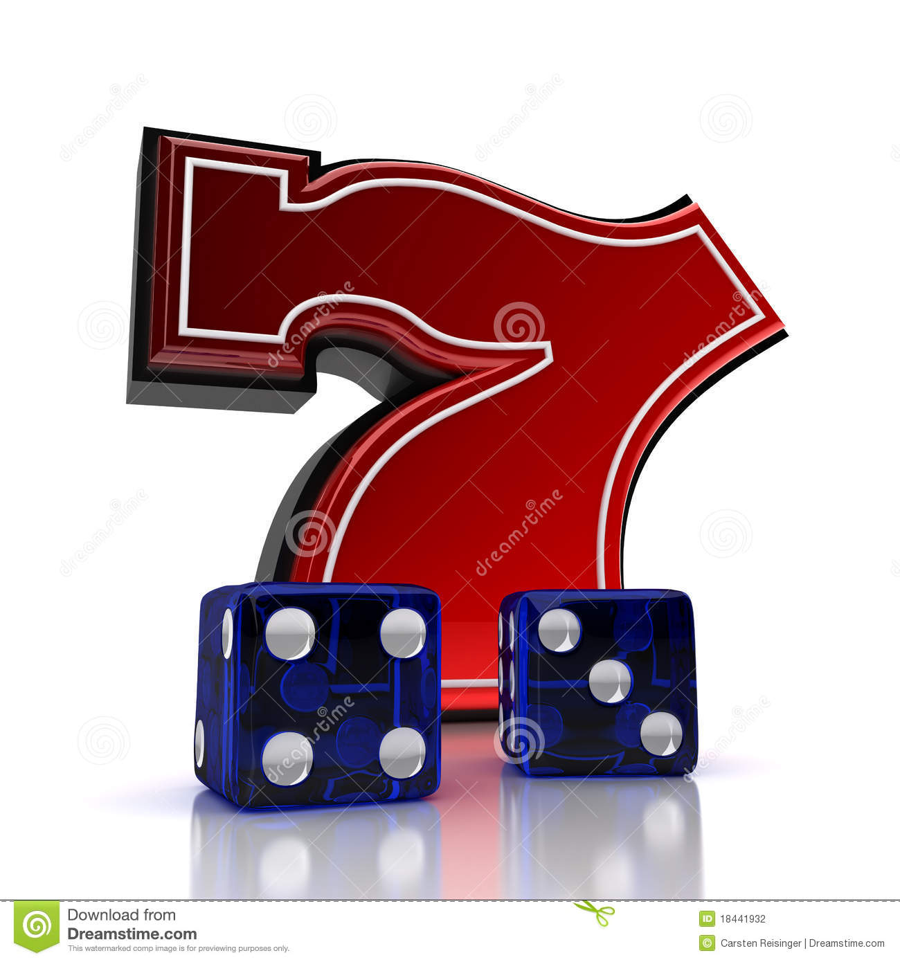 lucky number 7 dice