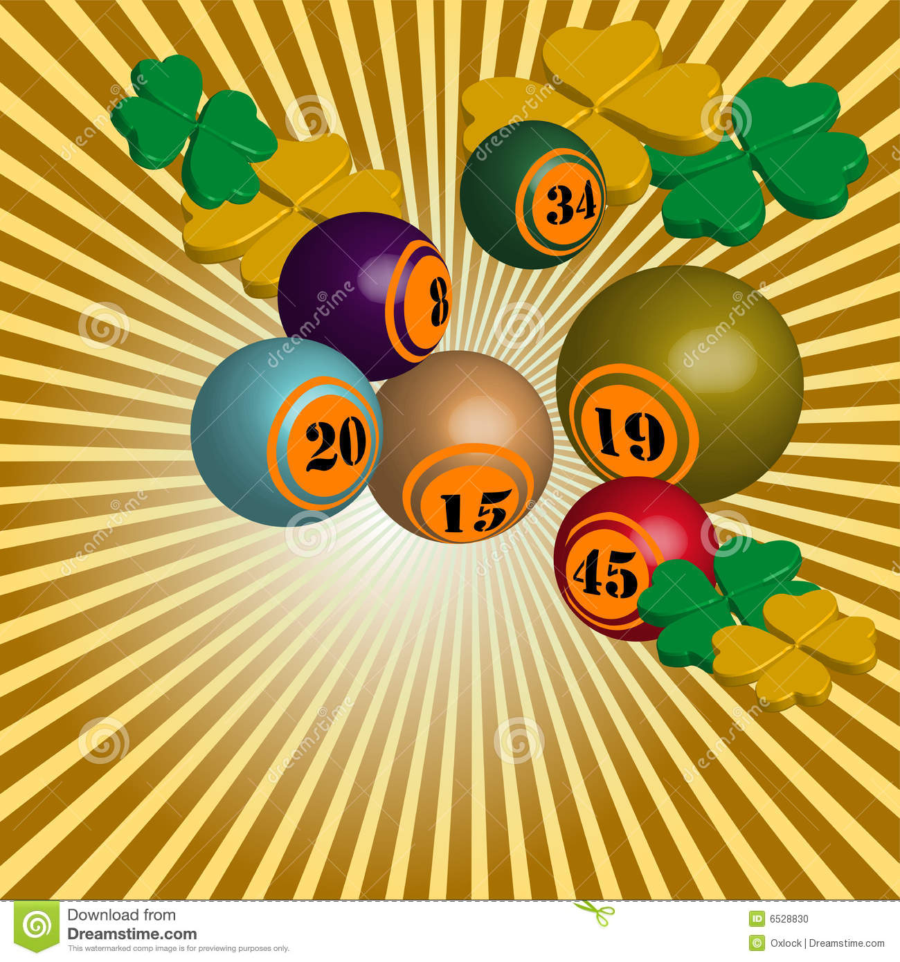 Lucky numbers stock vector  Illustration of chance