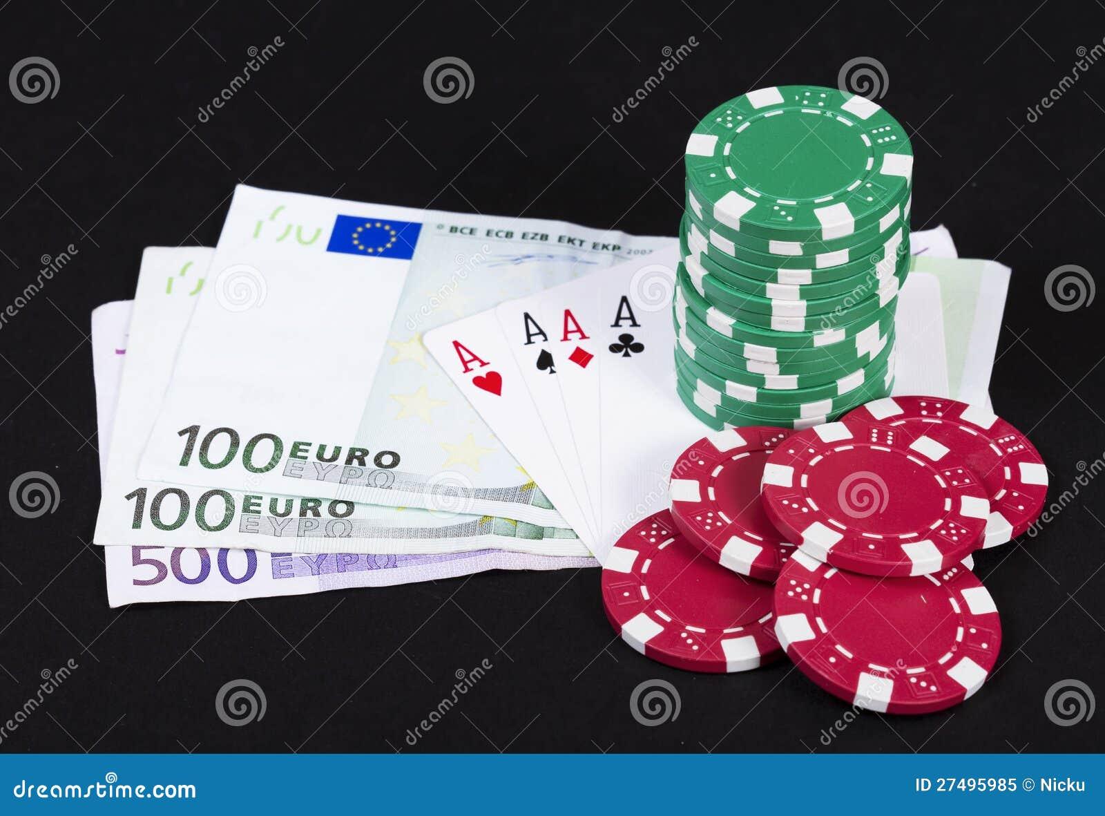 Lucky Poker Hand Royalty Free Stock Photo - Image: 27495985