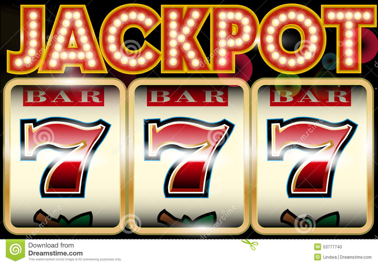 lucky seven jackpot stock vector image 53777740 Casino Gambling Theme Clip Art Casino Graphics