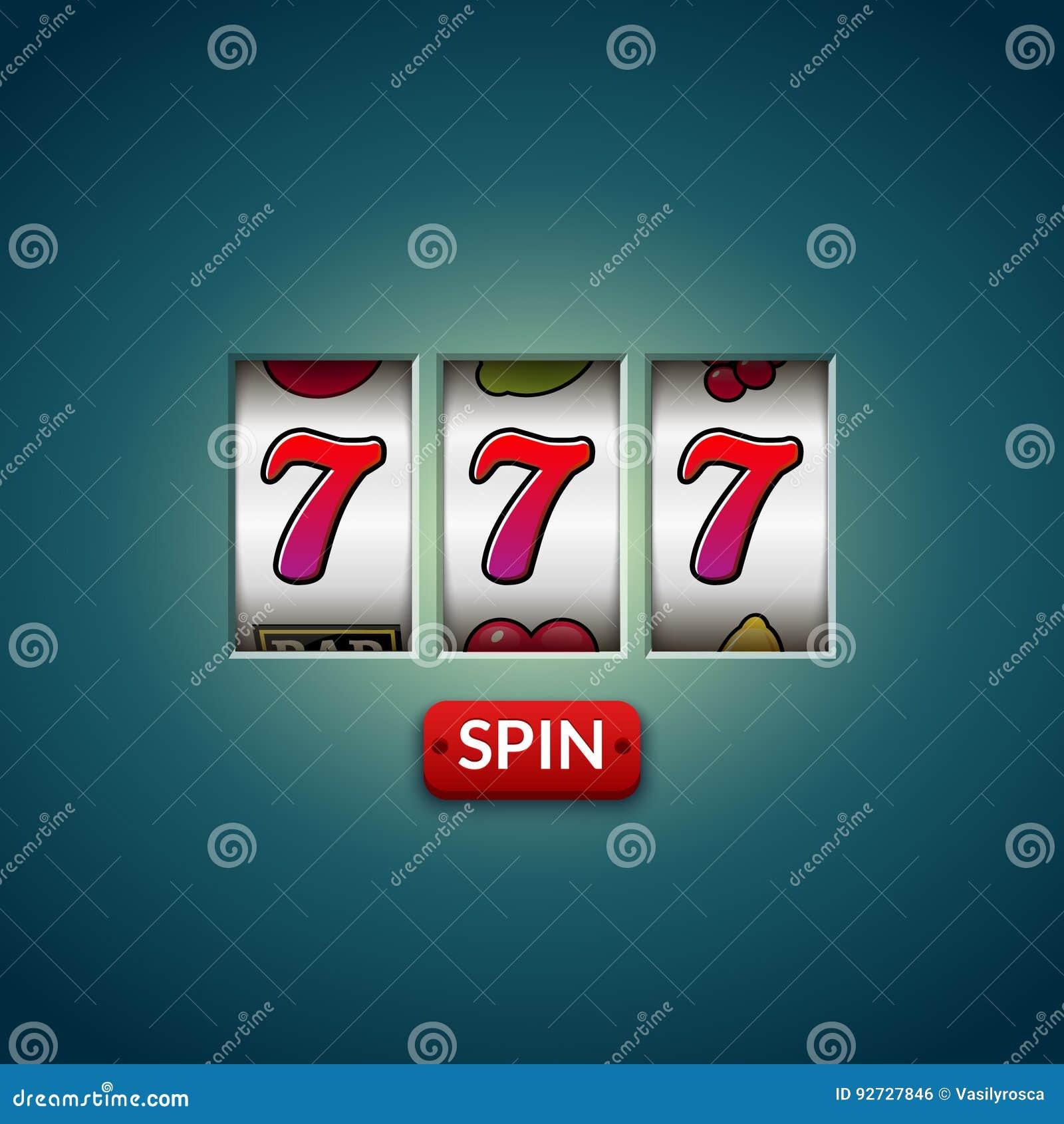 Lucky seven 777 slot machine. Casino vegas game. Gambling fortune chance. Win jackpot money
