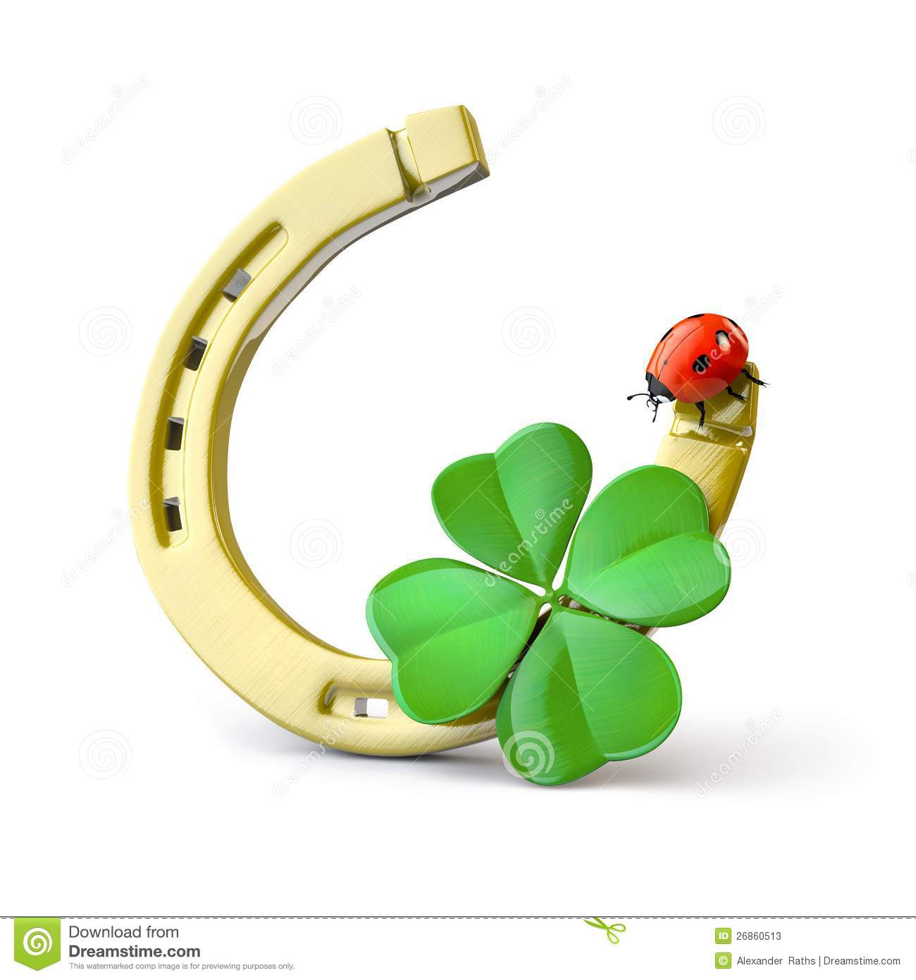 lucky symbols stock illustration illustration of gold four leaf clover vector eps 4 leaf clover vector