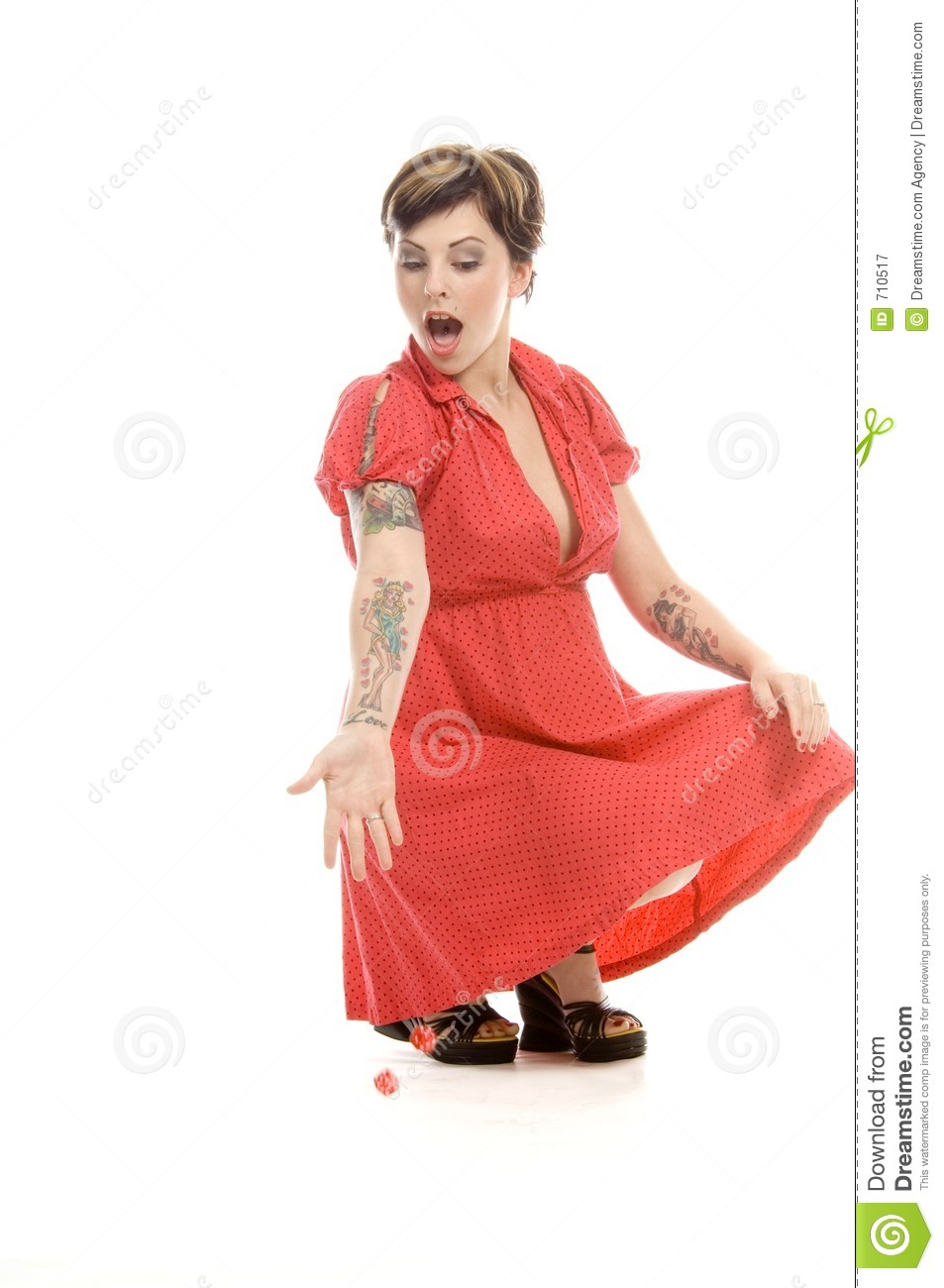 Download Lucky throw stock image. Image of improvising, actress - 710517
