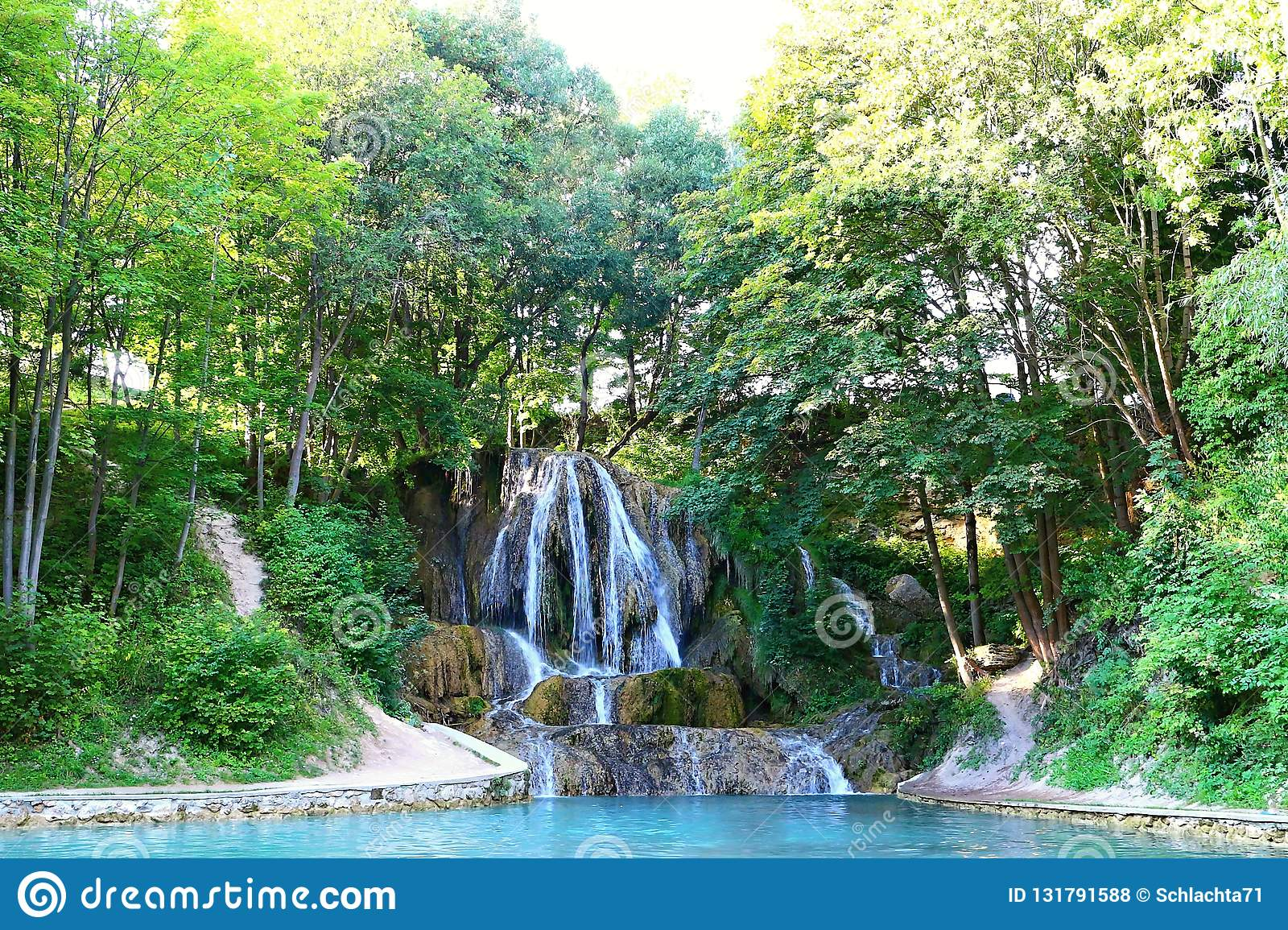 Lucky waterfall, a village with well-known SPA, travertine fields and indispensable.