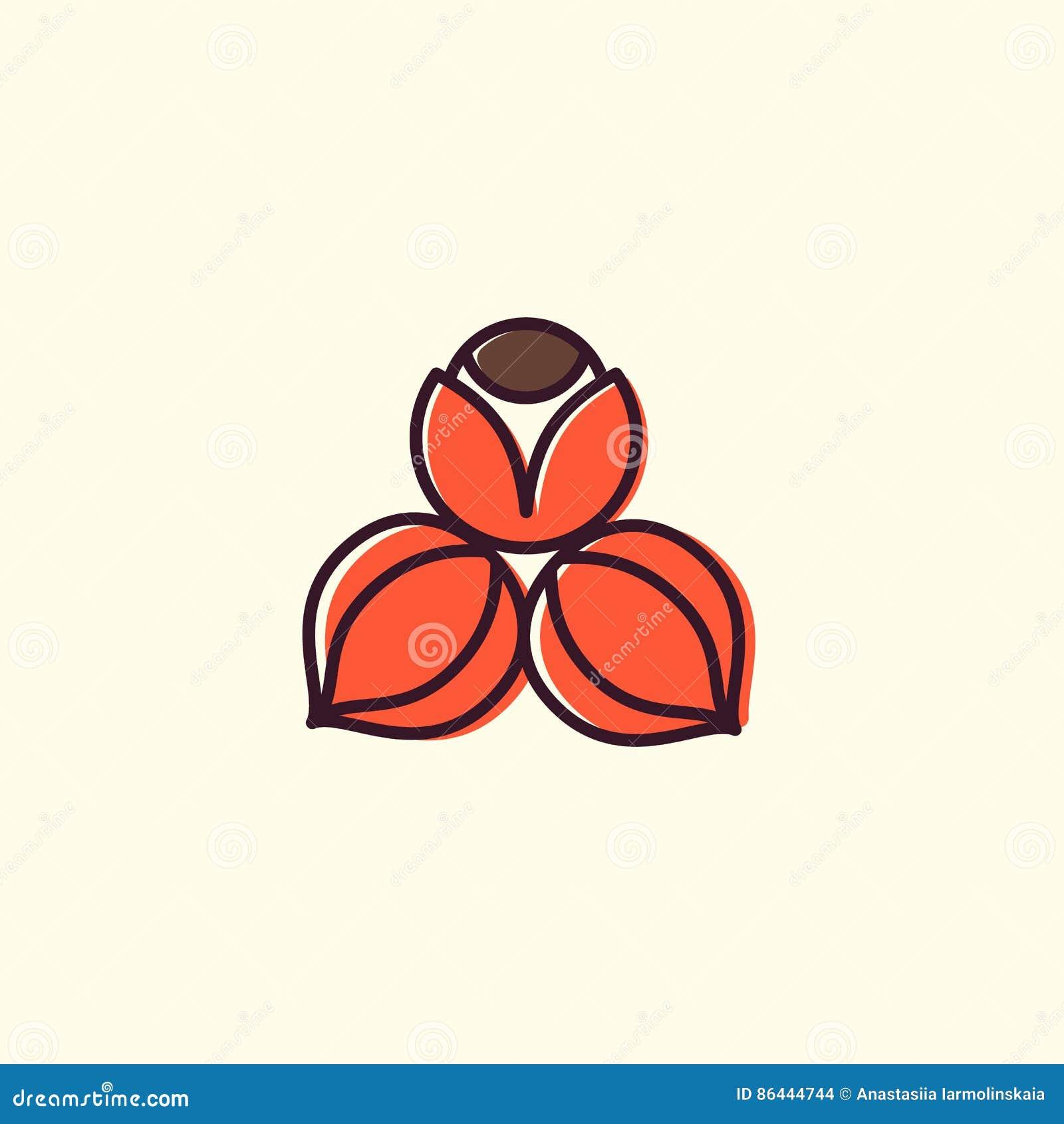 Lucuma logo w liniowym i płaskim stylu