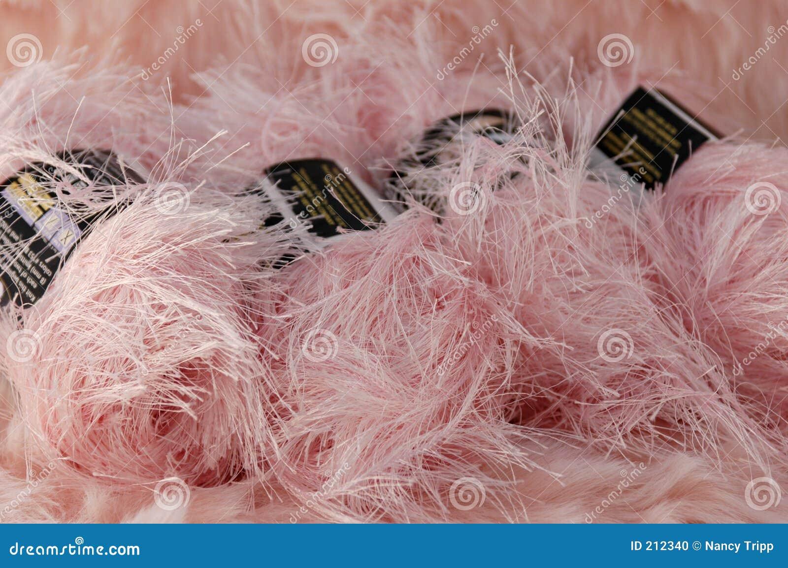 Luddigt rosa garn