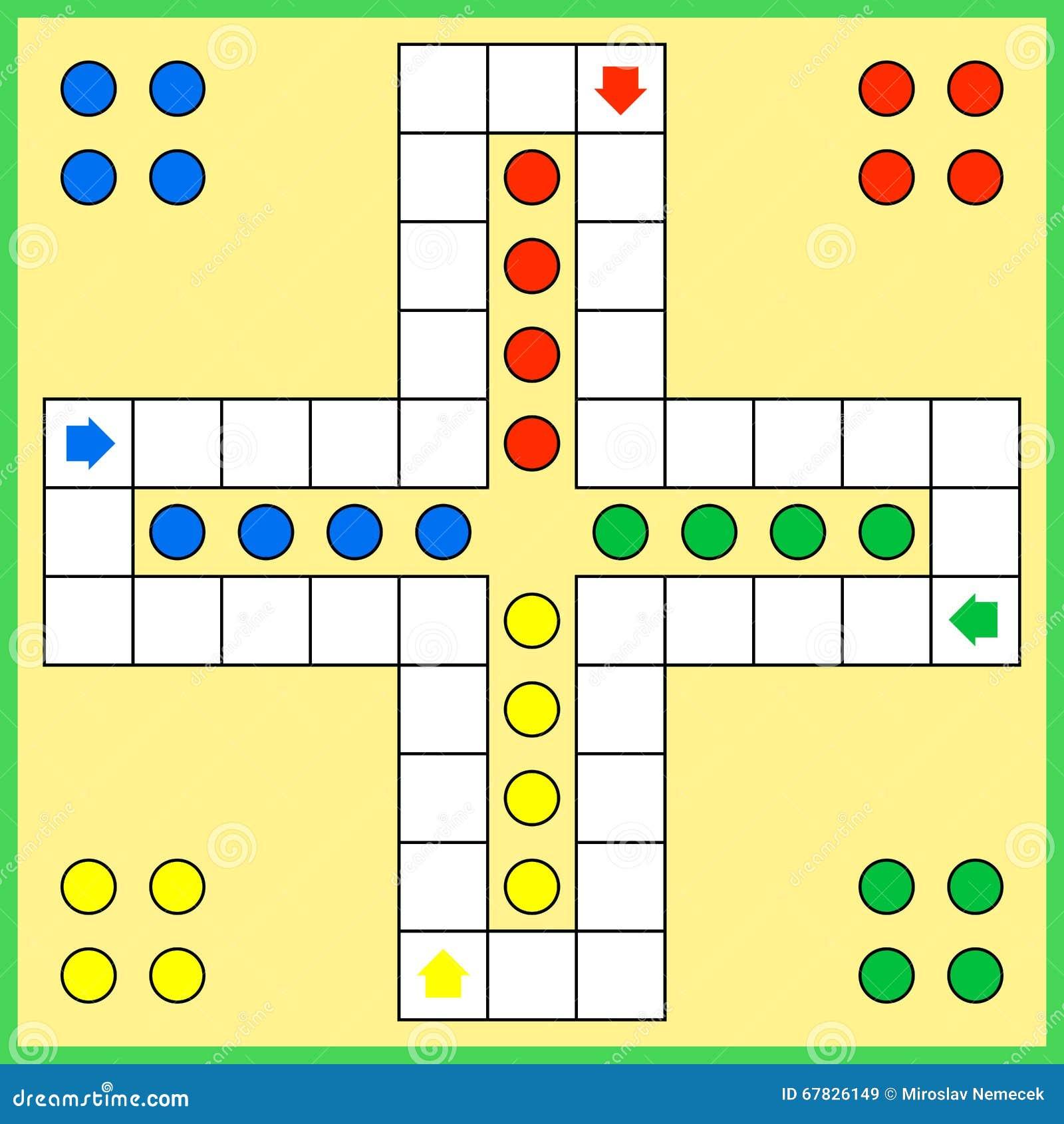 Ludo Board Game Cartoon Vector Cartoondealer Com 67826149