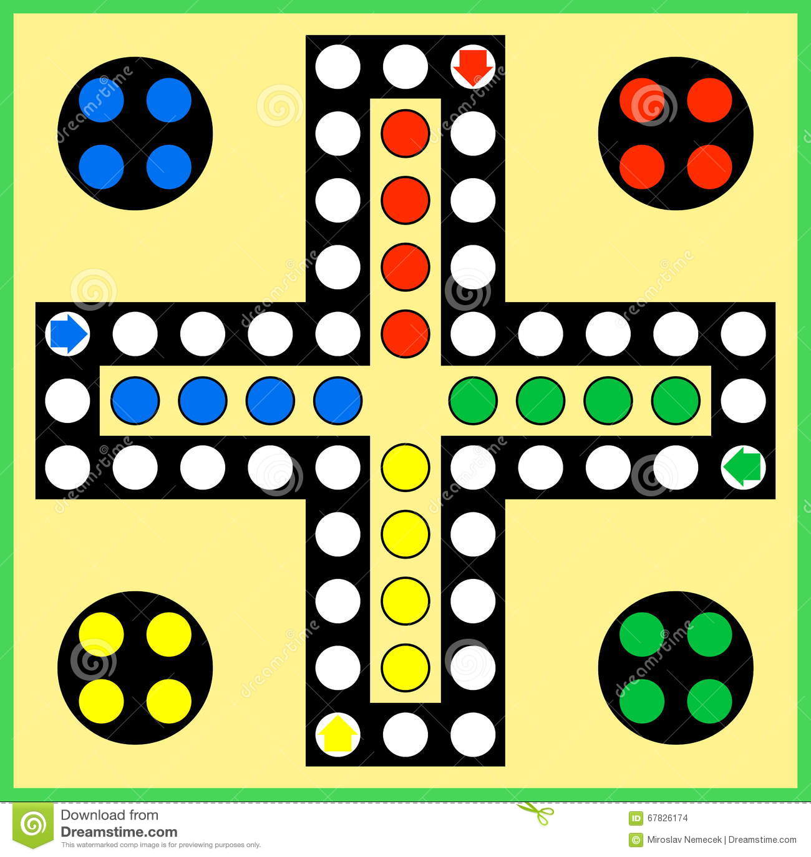 Ludo Board Game Stock Vector - Image: 67826174