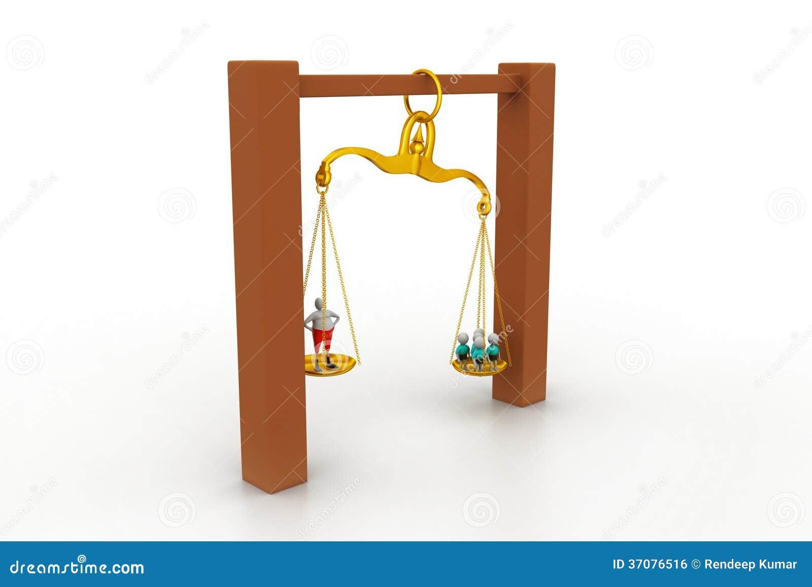 Download Ludzie balansuje w sclaes zdjęcie stock. Obraz złożonej z przywódctwo - 37076516