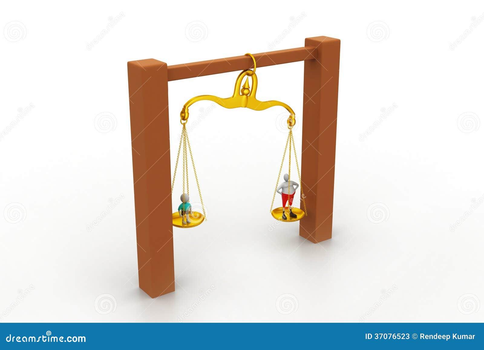 Download Ludzie balansuje w sclaes obraz stock. Obraz złożonej z wątpliwość - 37076523