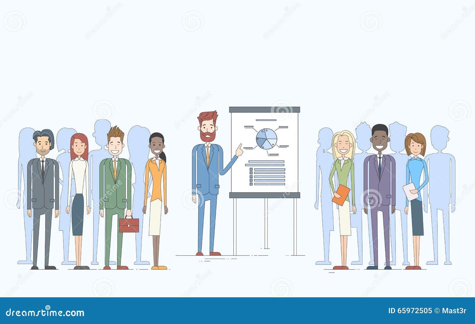 Ludzie Biznesu Grupują prezentaci trzepnięcia mapy finanse, biznesmeni Zespalają się Stażowego Konferencyjnego spotkania