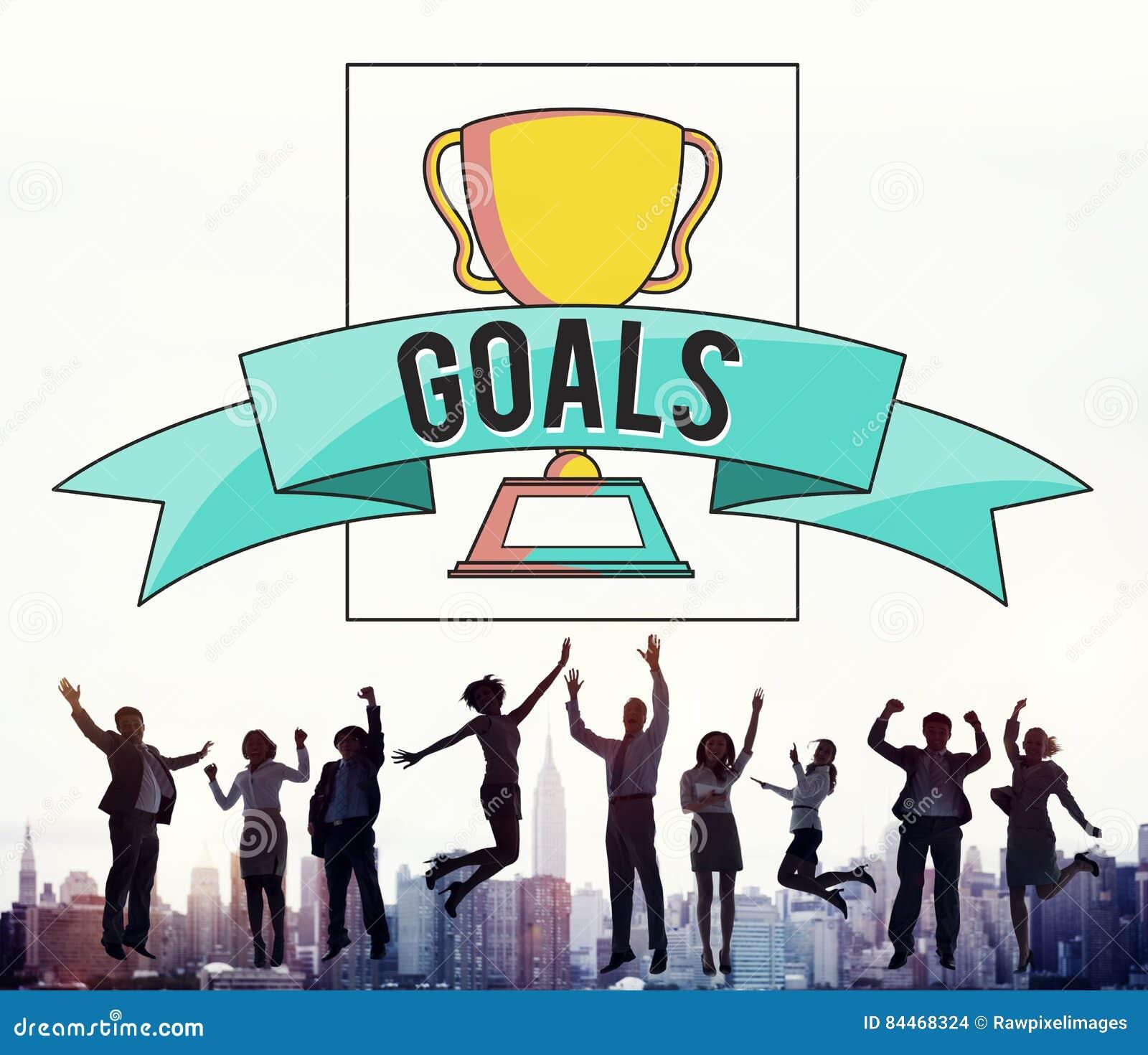 Ludzie Biznesu osiągnięcie sukcesu świętowania Skokowego pojęcia