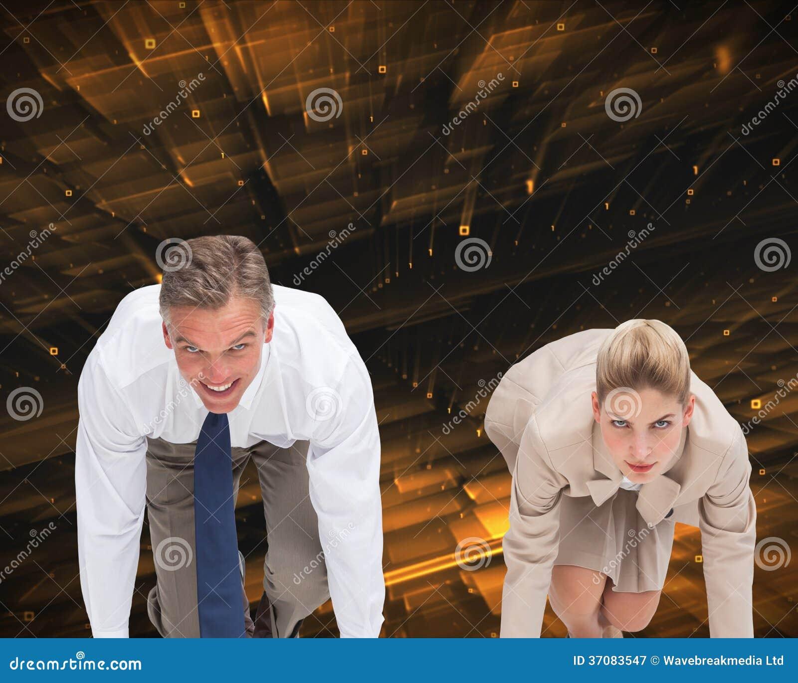 Download Ludzie Biznesu Przygotowywający Zaczynać Rasy Obraz Stock - Obraz złożonej z czerń, futurystyczny: 37083547