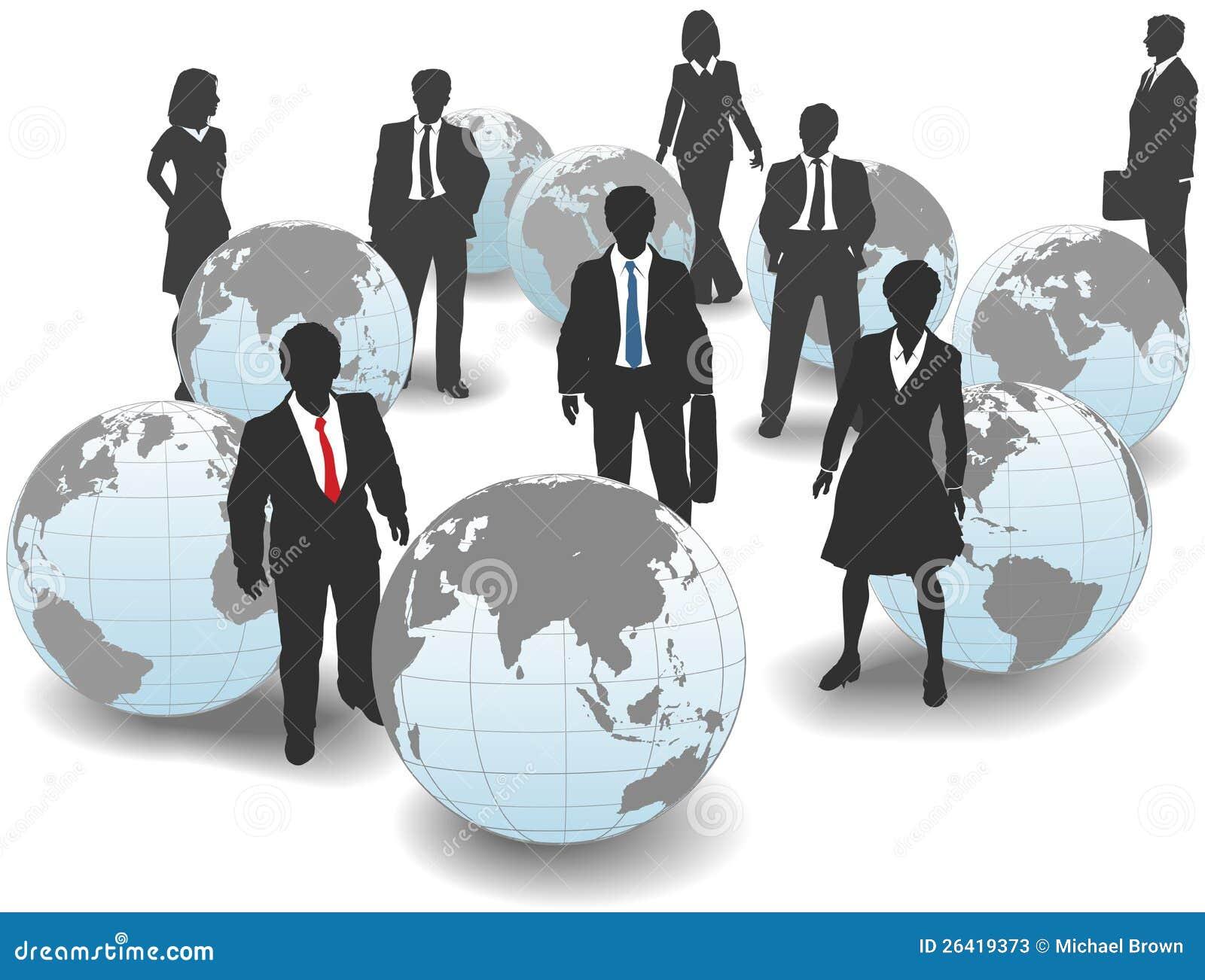 Ludzie biznesu sił roboczych światowych globalnych drużyn