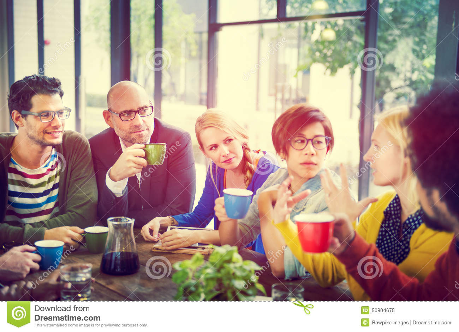 Ludzie Biznesu Spotyka Seminaryjnego udzielenie Opowiada Myślącego pojęcie