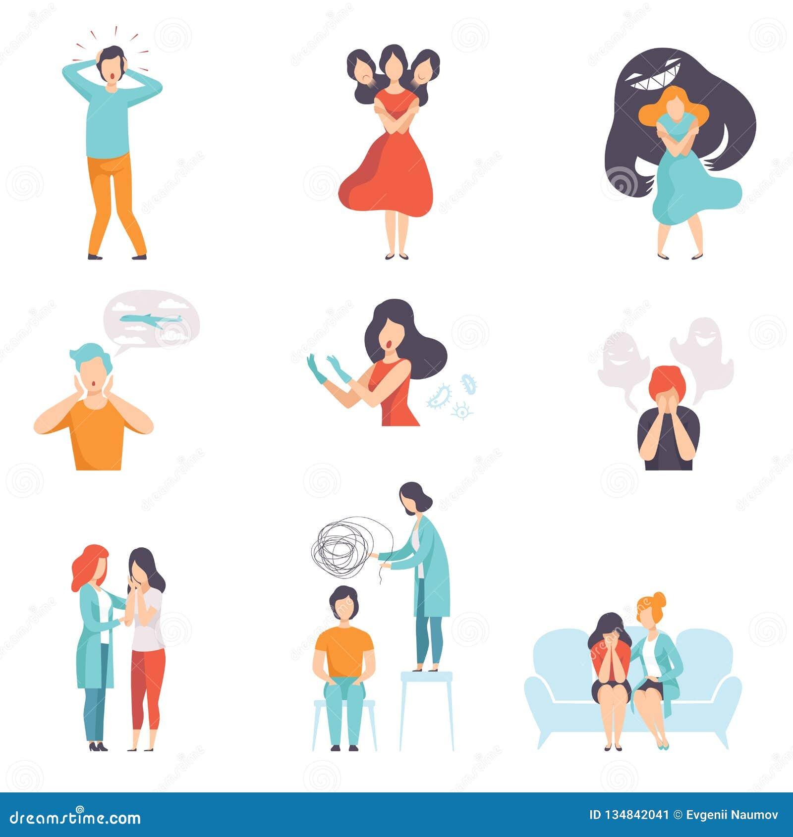Ludzie cierpi od zaburzeń psychicznych ustawiają, psychoterapeuci taktuje pacjentów na behawioralnych lub zdrowie psychiczne prob