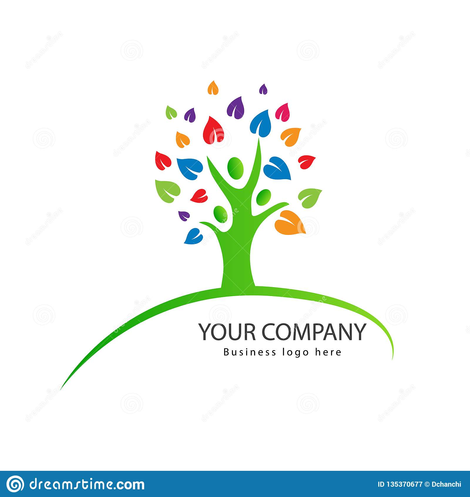 Ludzie drzewnego rodzinnego logo