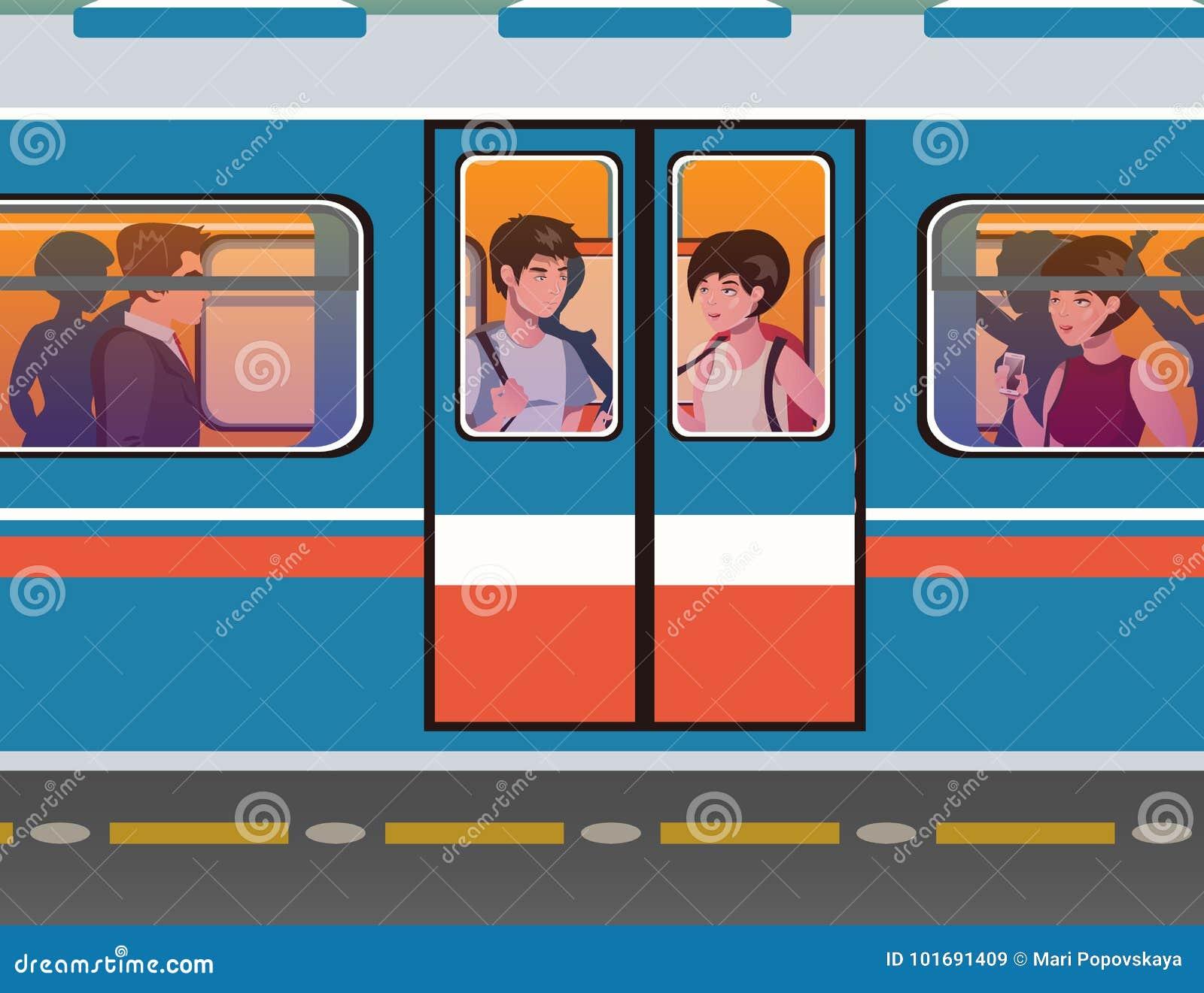 Ludzie iść metro