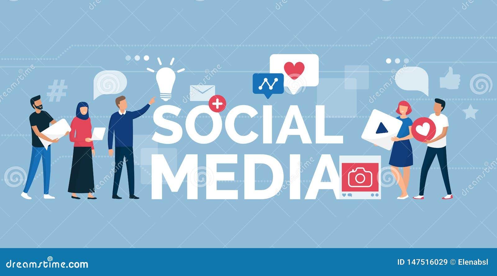 Ludzie i socjalny medialna spo?eczno?? online
