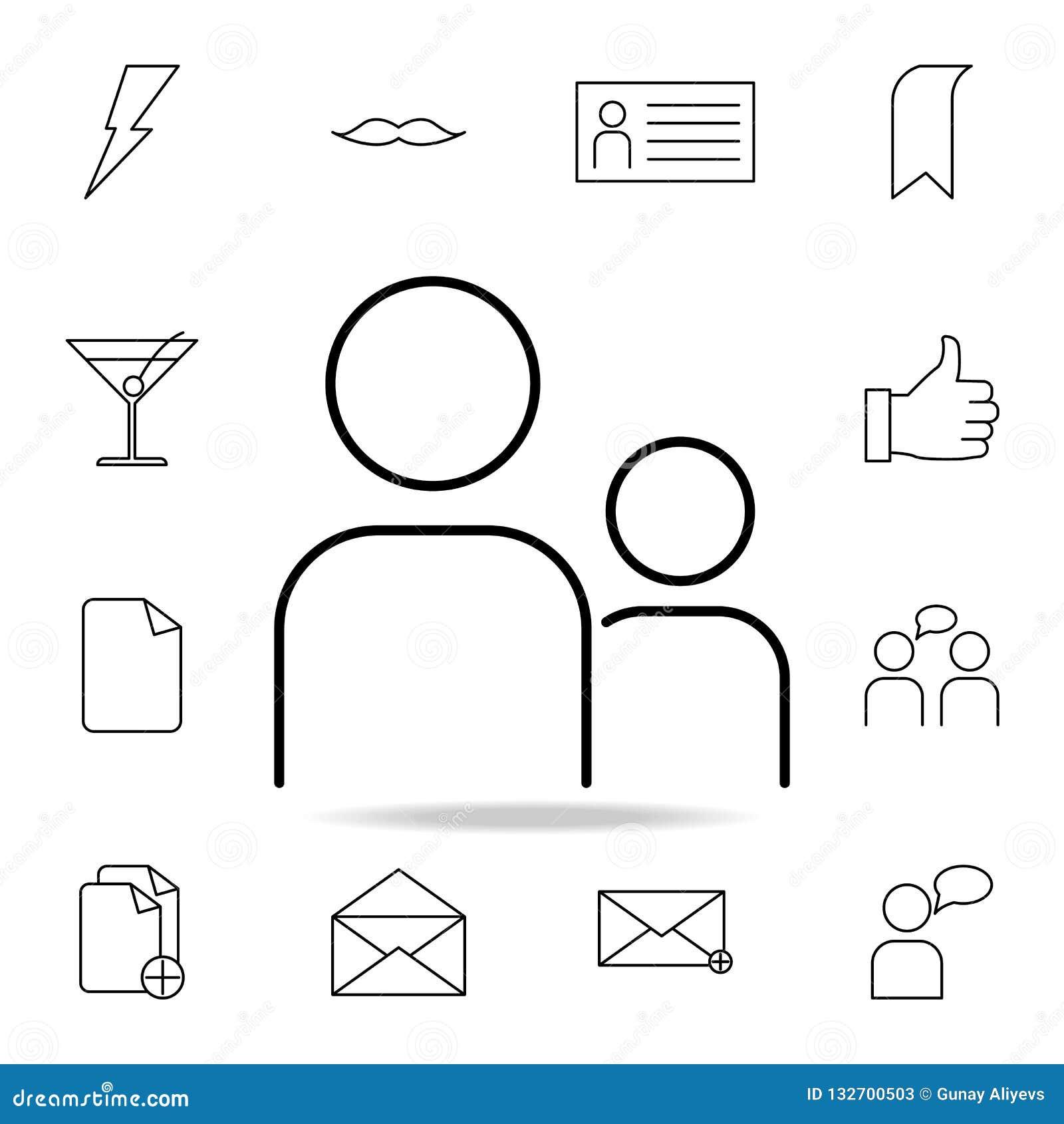 Ludzie ikon Szczegółowy set proste ikony Premia graficzny projekt Jeden inkasowe ikony dla stron internetowych, sieć projekt, wis