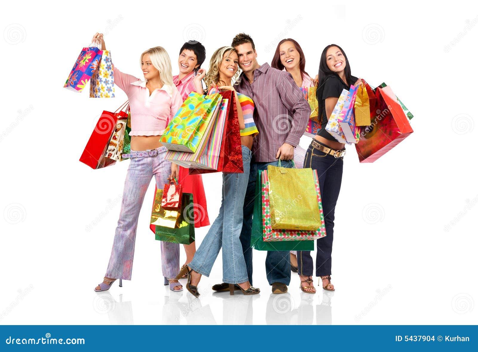 Ludzie na zakupy.