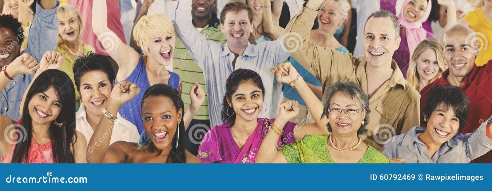 Ludzie różnorodności społeczeństwa grupy Przypadkowego pojęcia