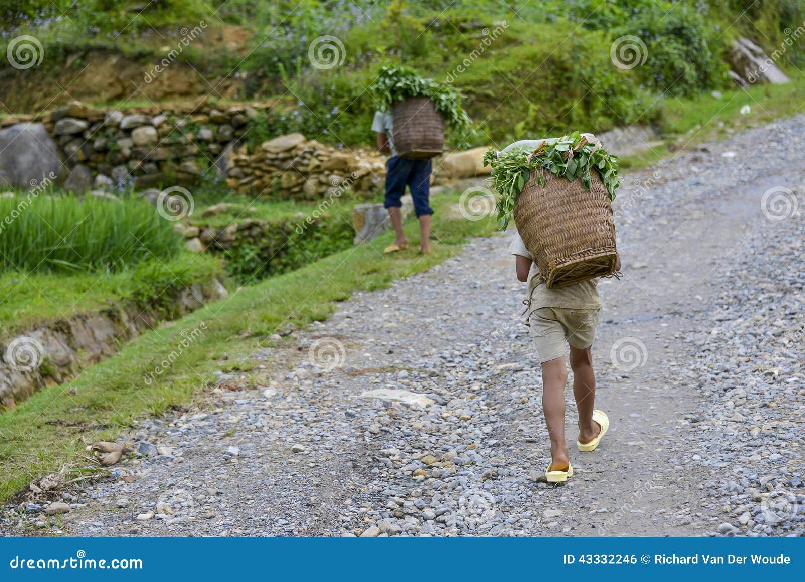 Ludzie Sa Pa w Wietnam