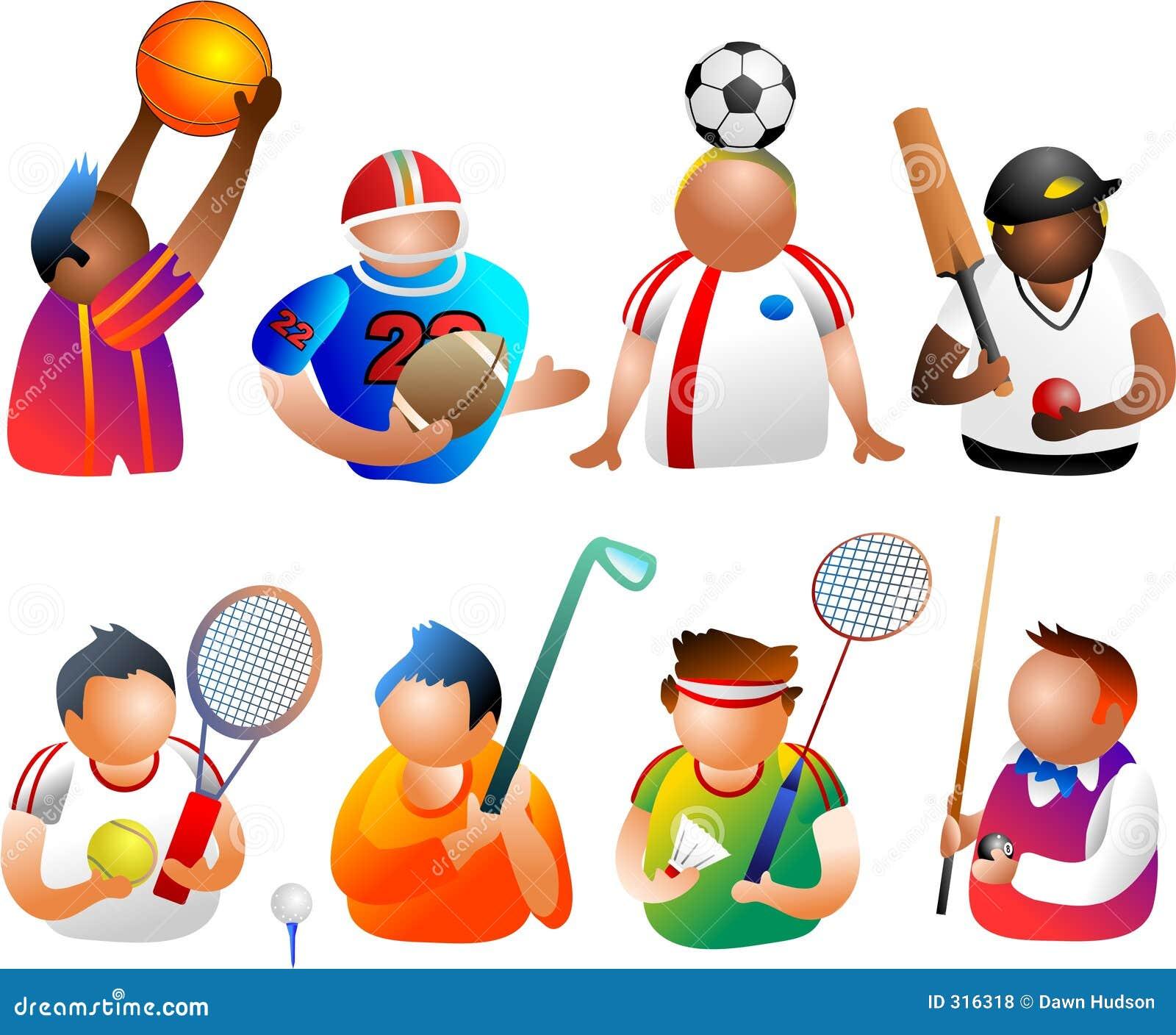 Ludzie sporty. ilustracji. Ilustracja złożonej z przekładnia
