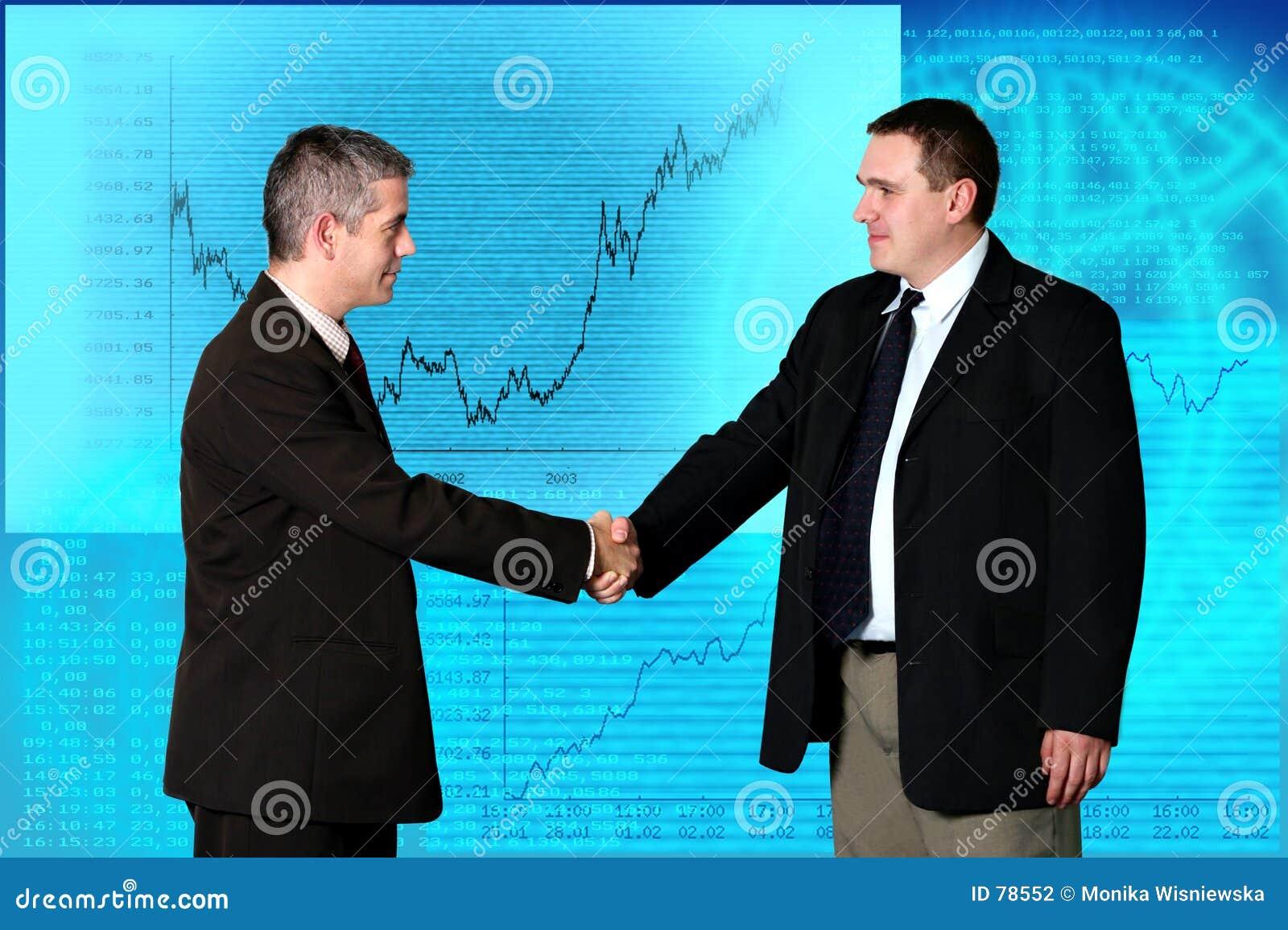 Ludzie transakcji biznesowych