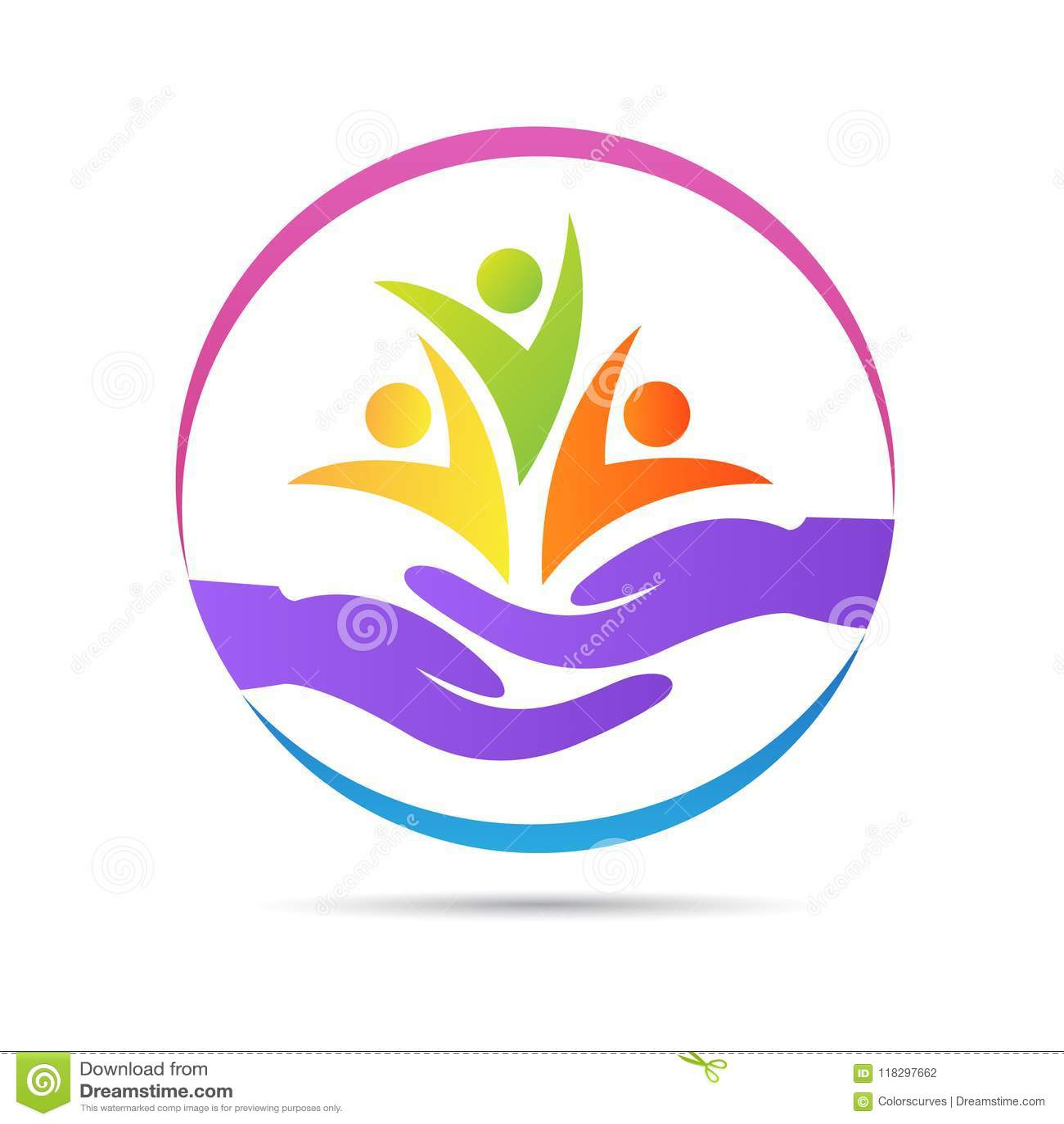 Ludzie wellness kobiety dzieci dobroczynności sierocina opieki zdrowotnej starszego loga