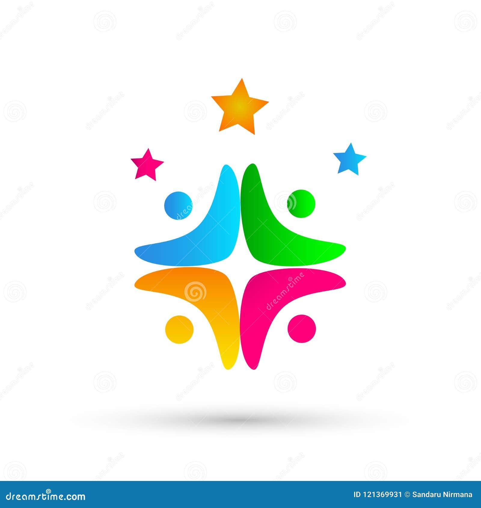 Ludzie zjednoczenie drużyny pracy partnerstwa, edukacja, świętowanie sukcesu loga ikony symbolu na białym tle ludzie