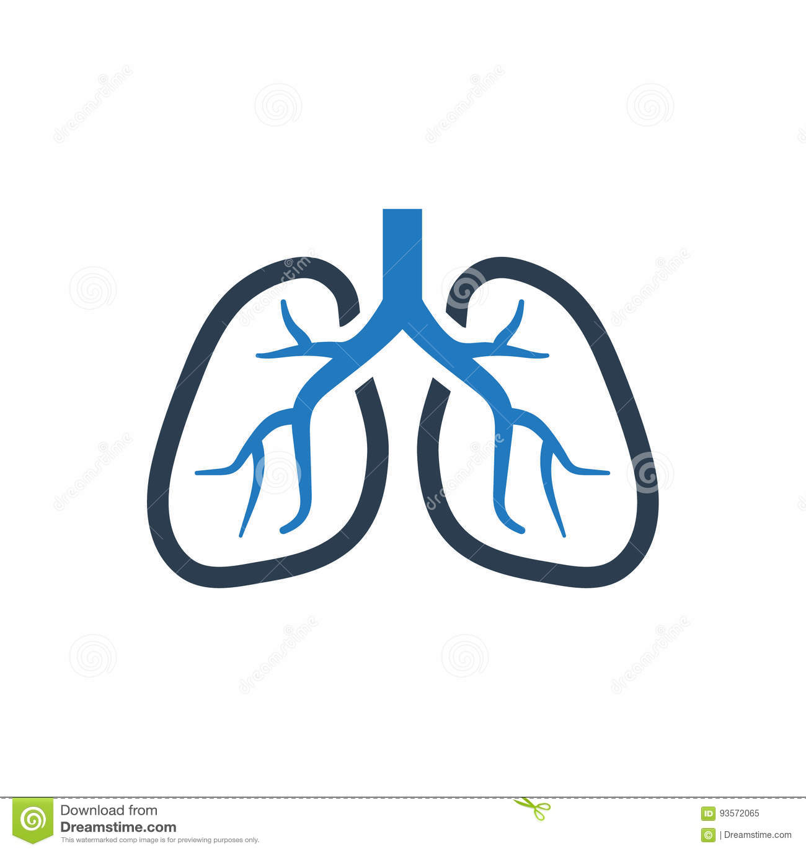 Ludzka płuco ikona