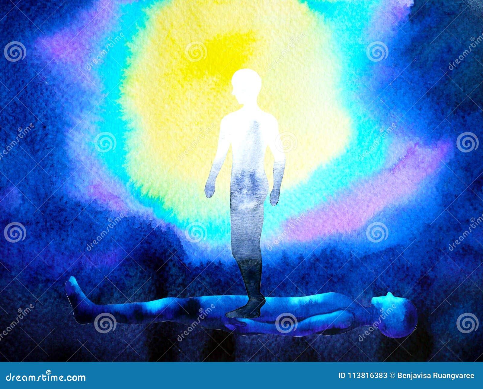 Ludzki dusza duch, ciało i łączymy pamiętać związek inside