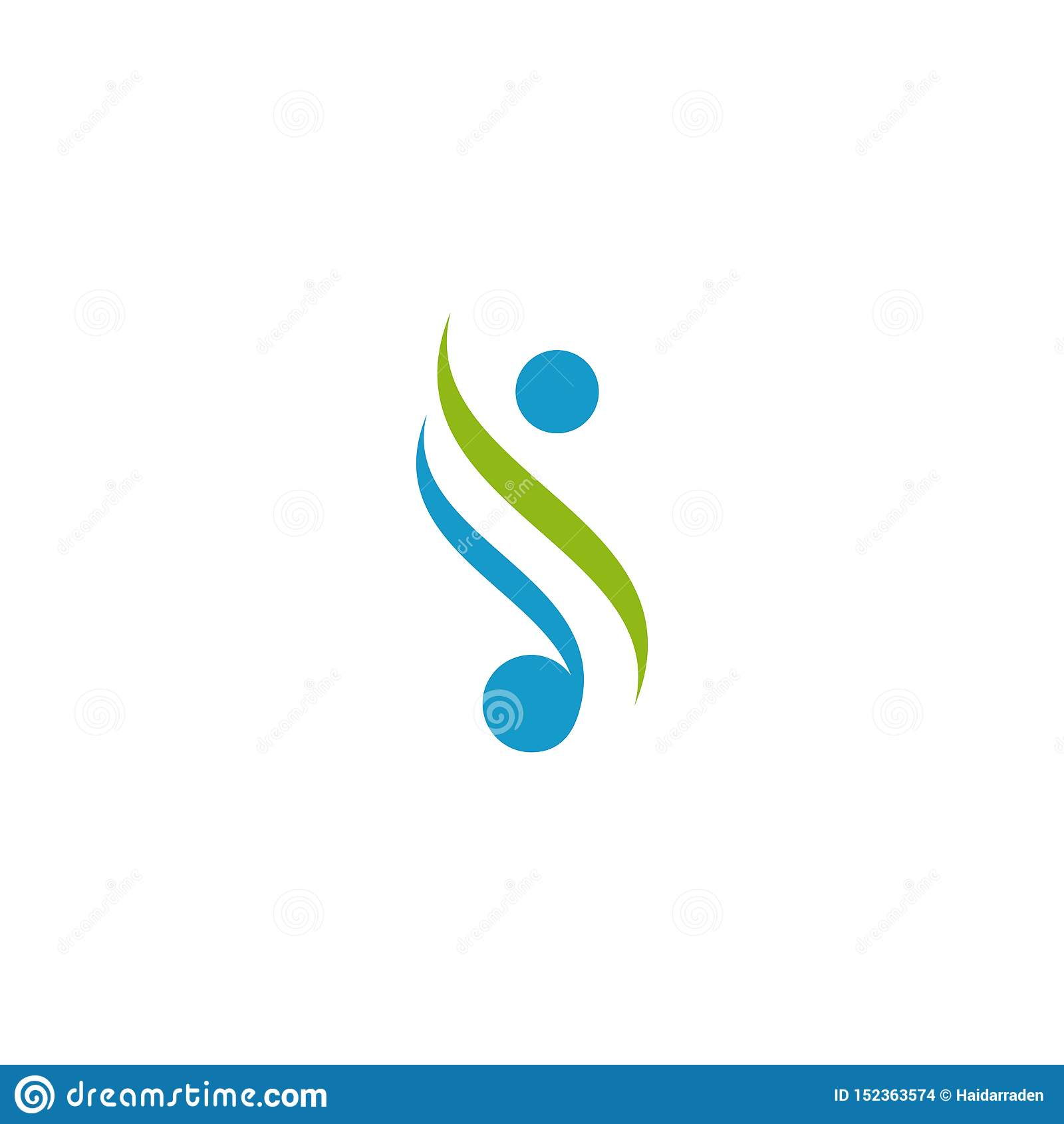 Ludzki logo projekt Prosty minimalisty styl