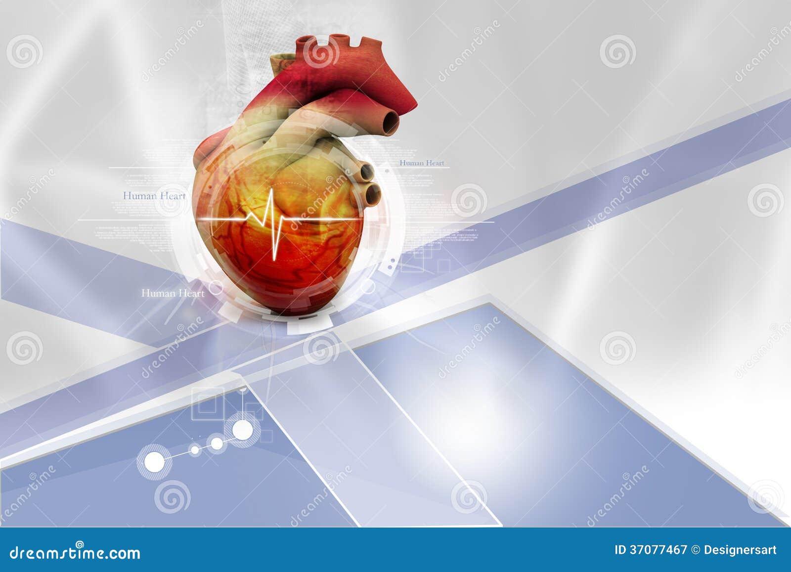 Download Ludzki serce ilustracji. Ilustracja złożonej z czerwień - 37077467